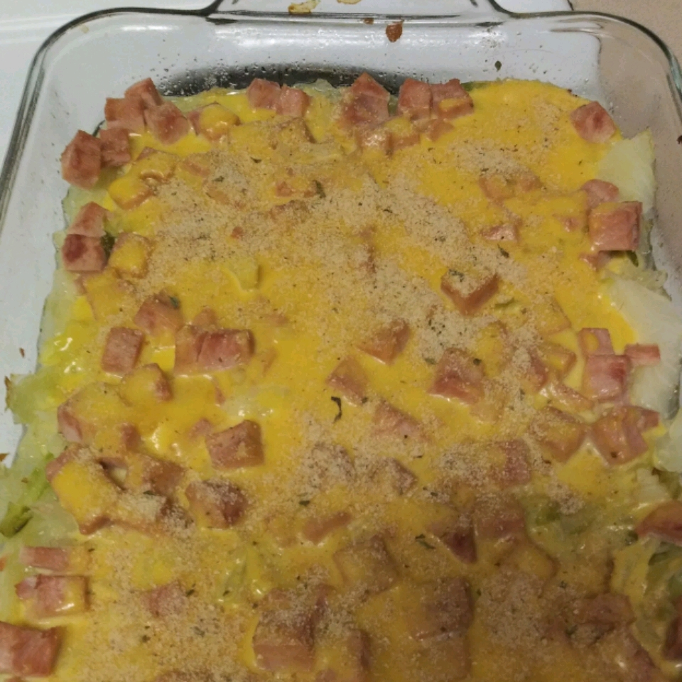 Scalloped Cabbage with Ham and Cheese Andrea Foltz