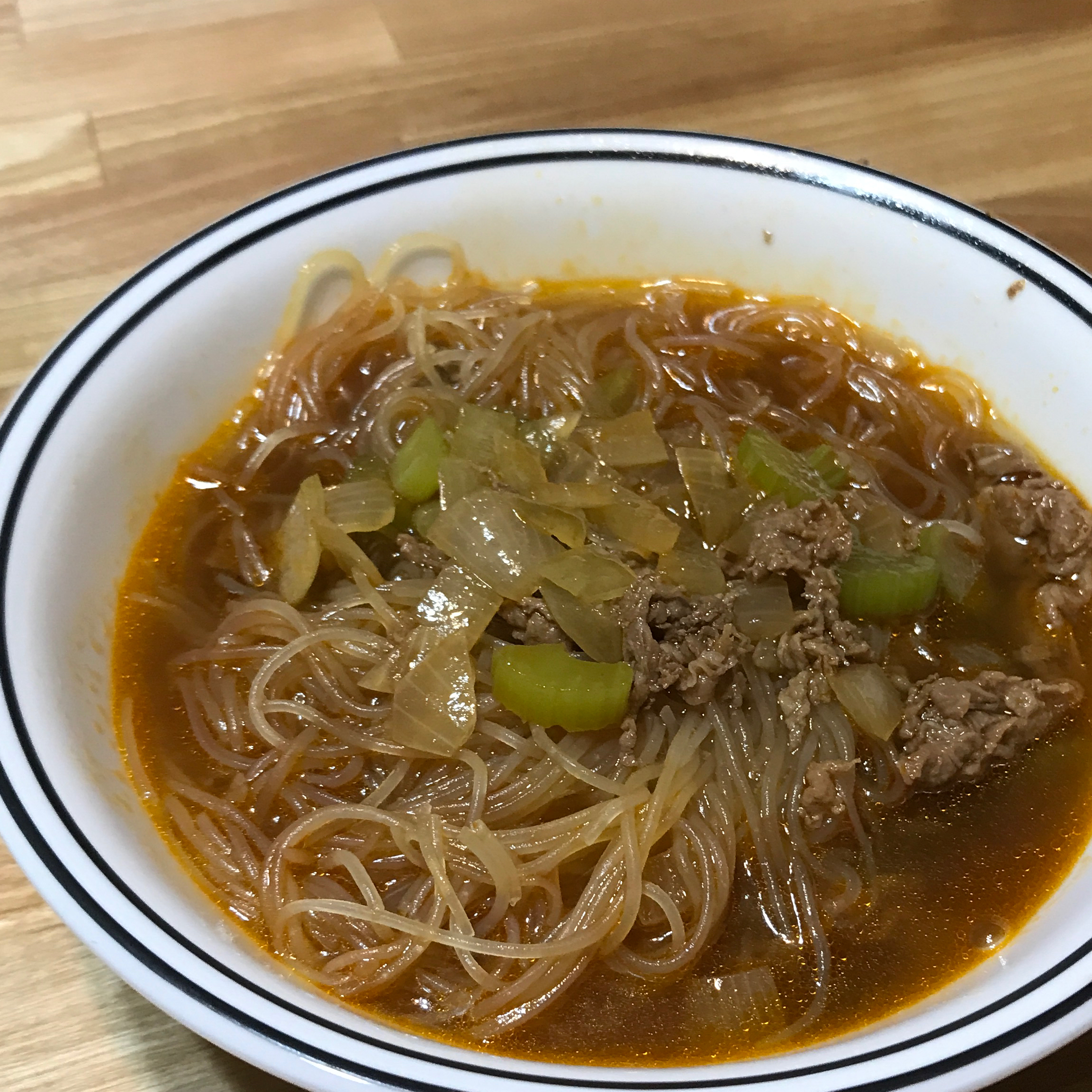 Asian-Themed Beef and Rice Noodle Soup Tanya Howland