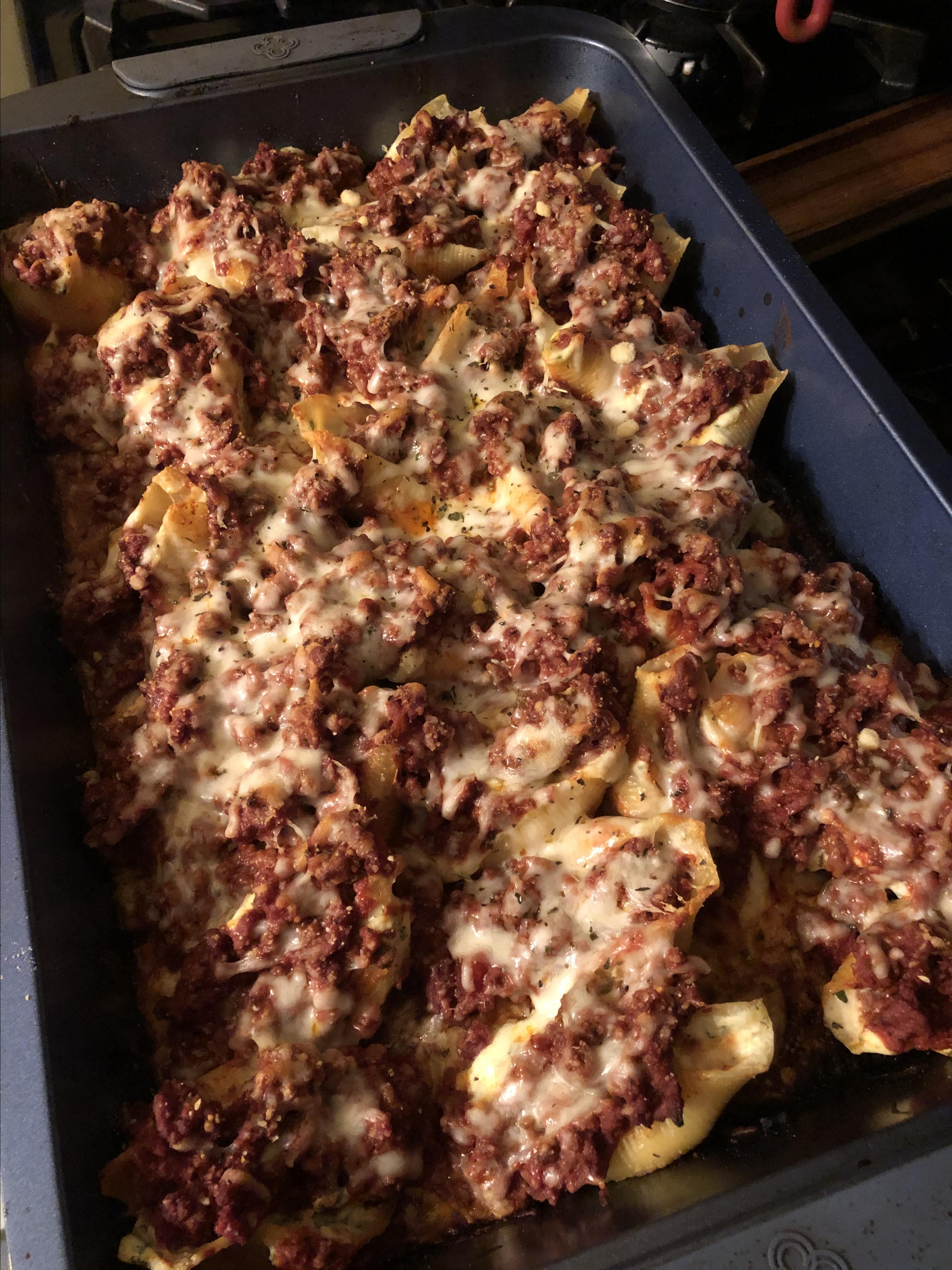 Lasagna Stuffed Shells Theile Baxtresser