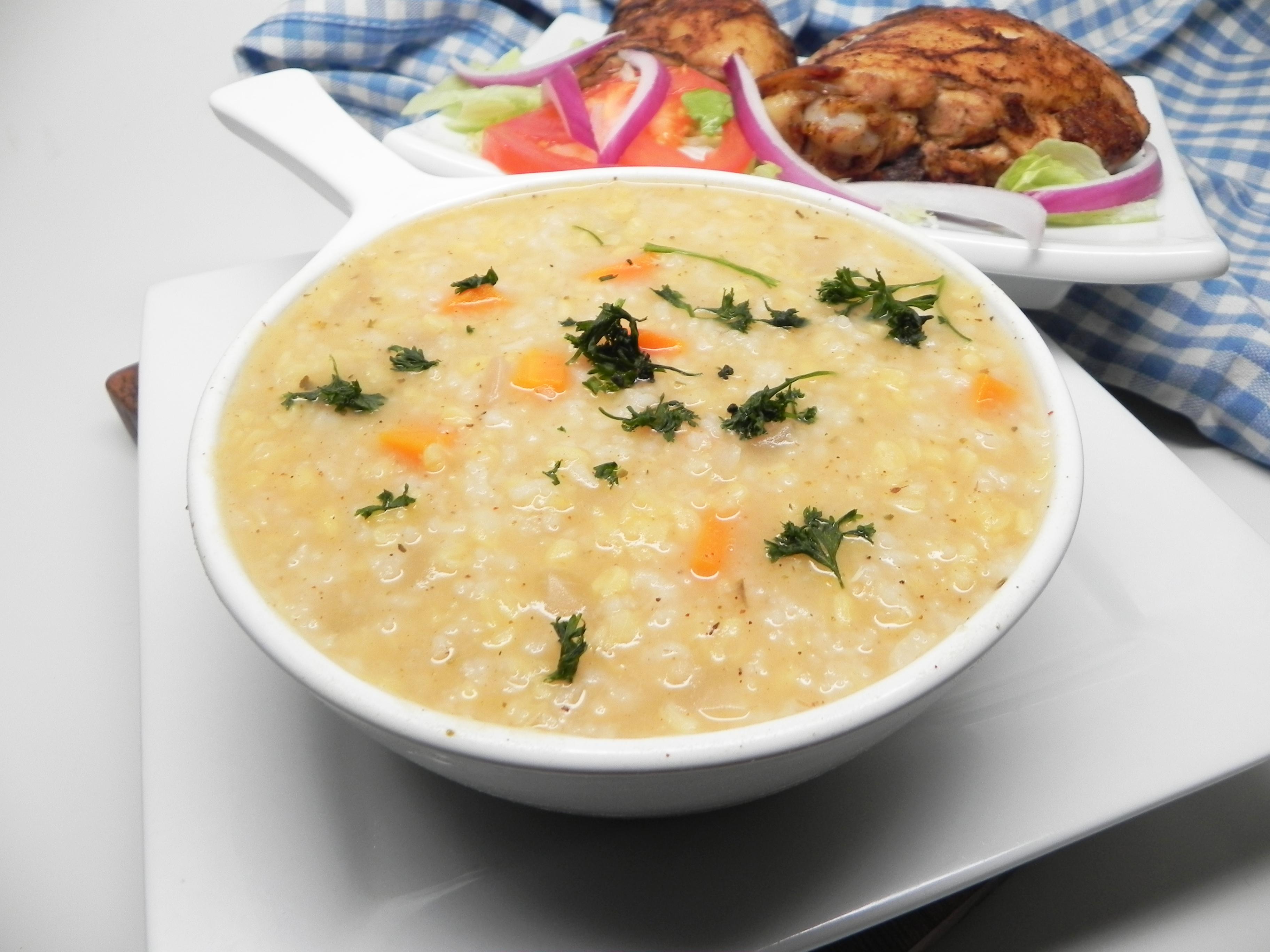 Instant Pot® Lentil and Rice Soup