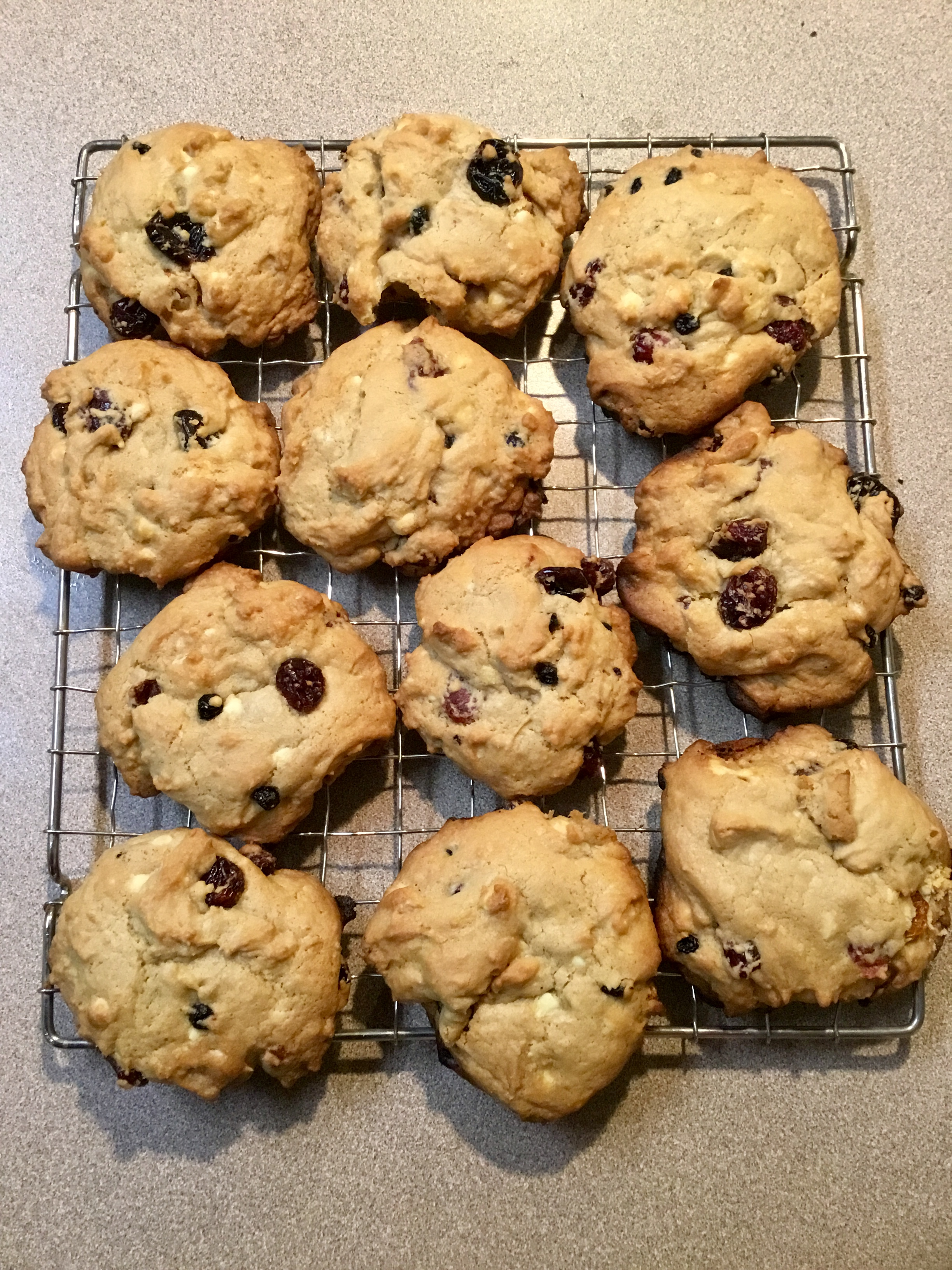 White Chocolate and Cranberry Cookies J-L Bourne
