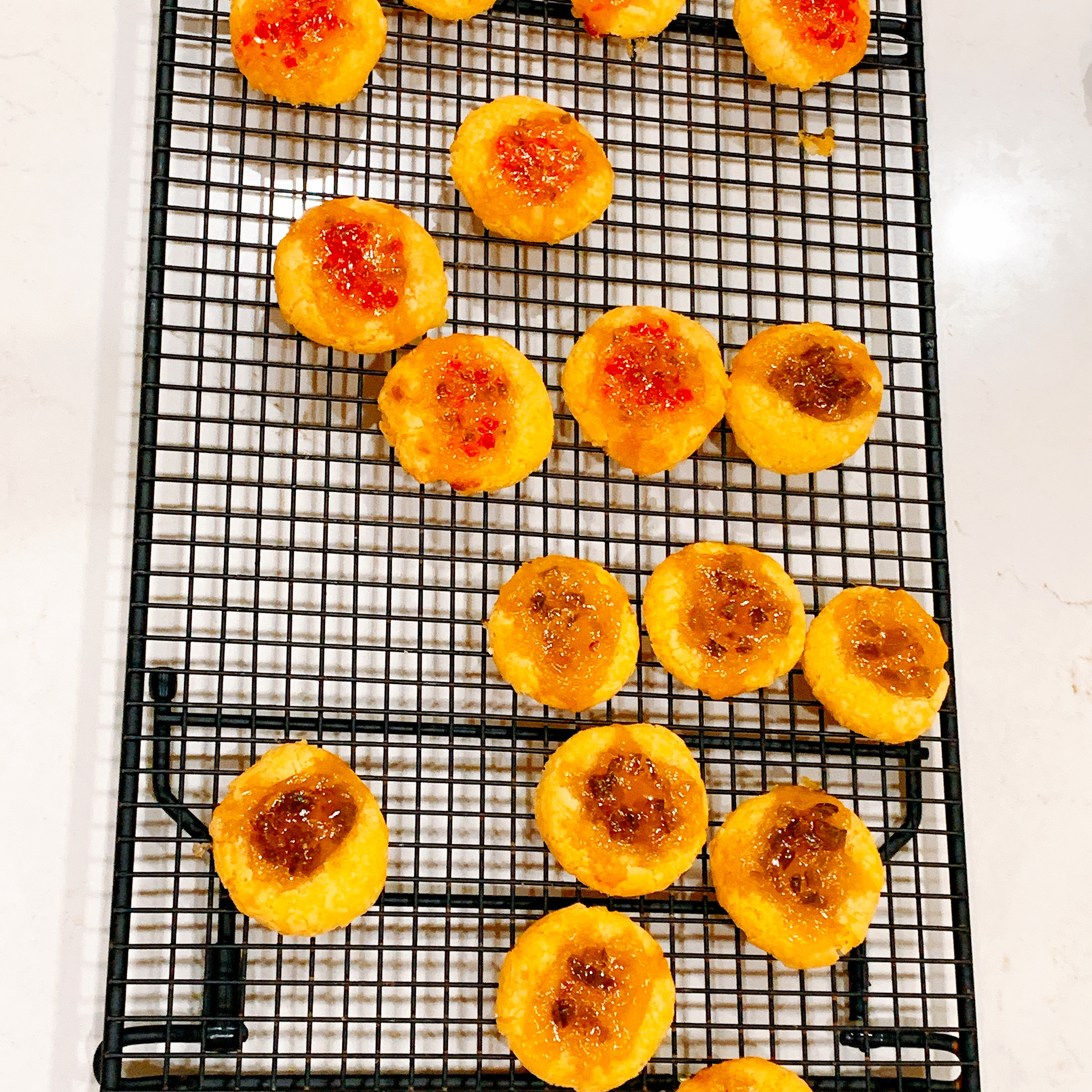 Cheesy Thumbprint Appetizers with Hot Pepper Jelly
