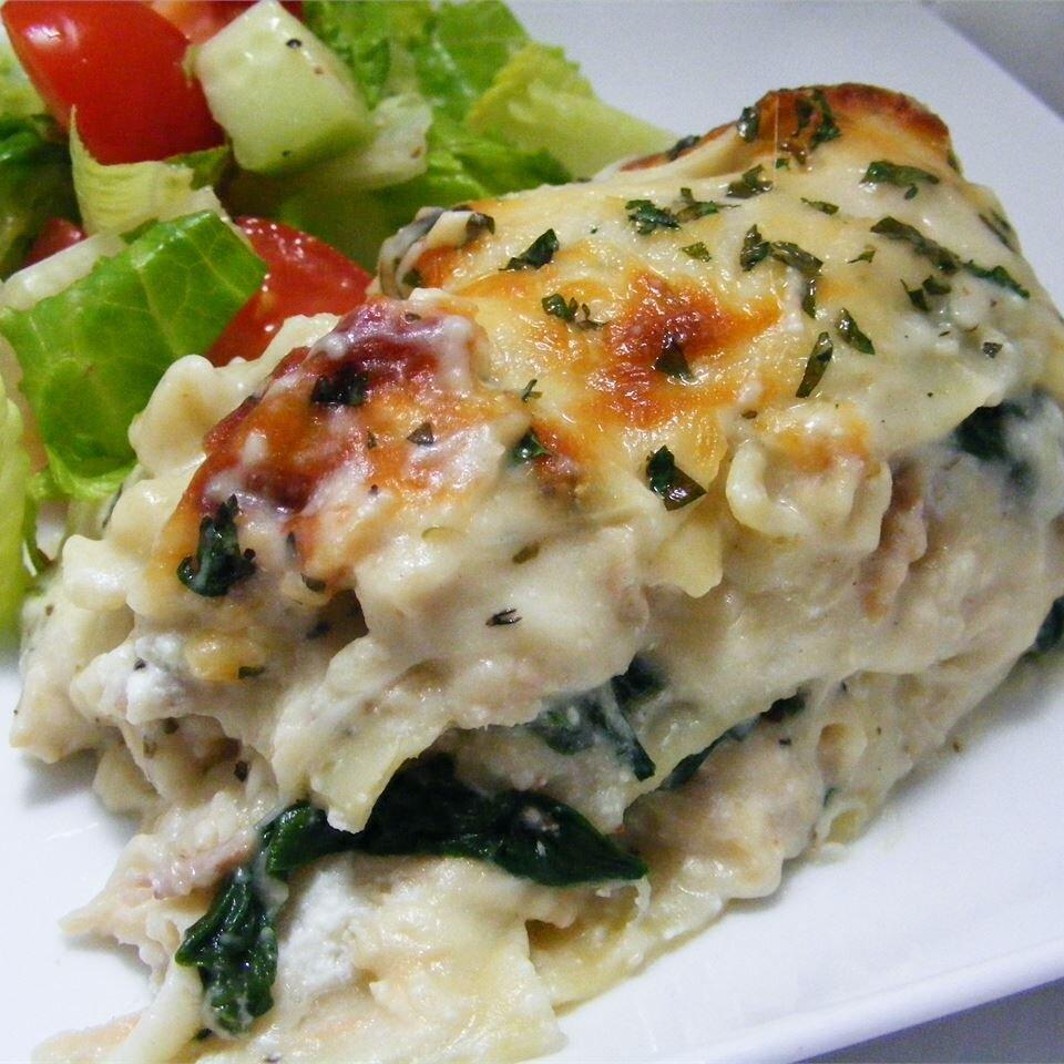 White Cheese Chicken Lasagna Recipe Allrecipes