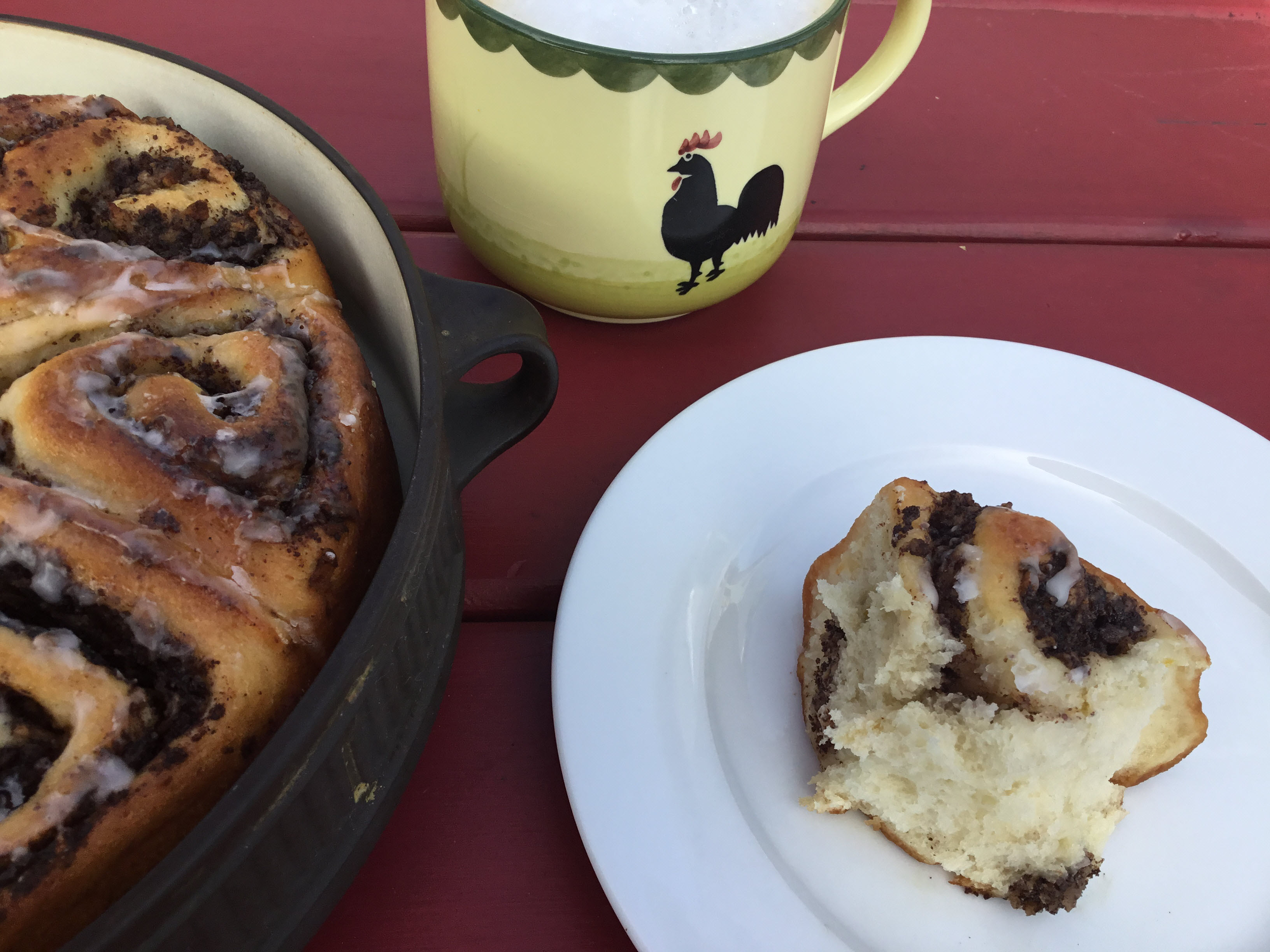 Yeasted Poppy Seed Apple Buns nch