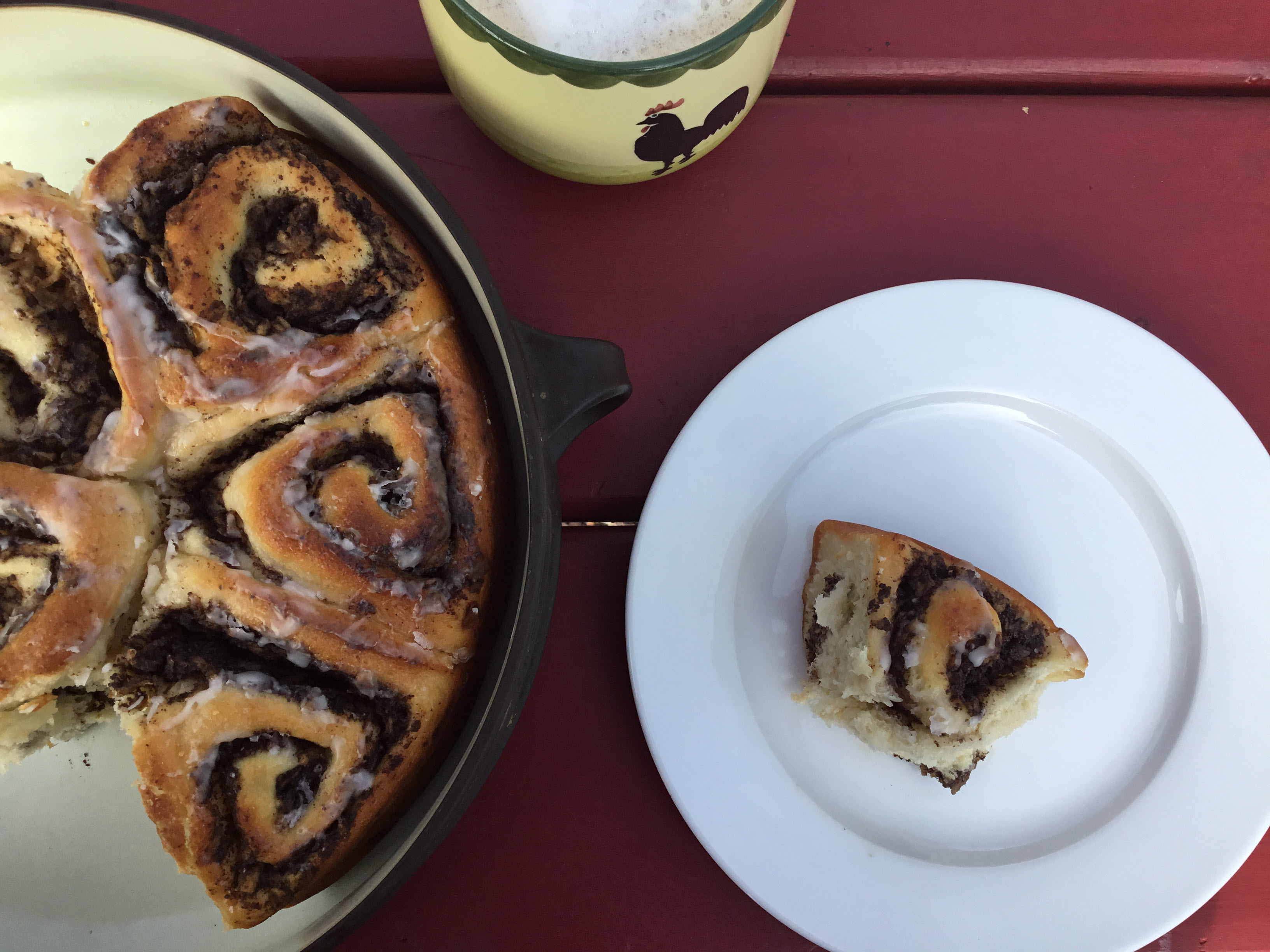 Yeasted Poppy Seed Apple Buns