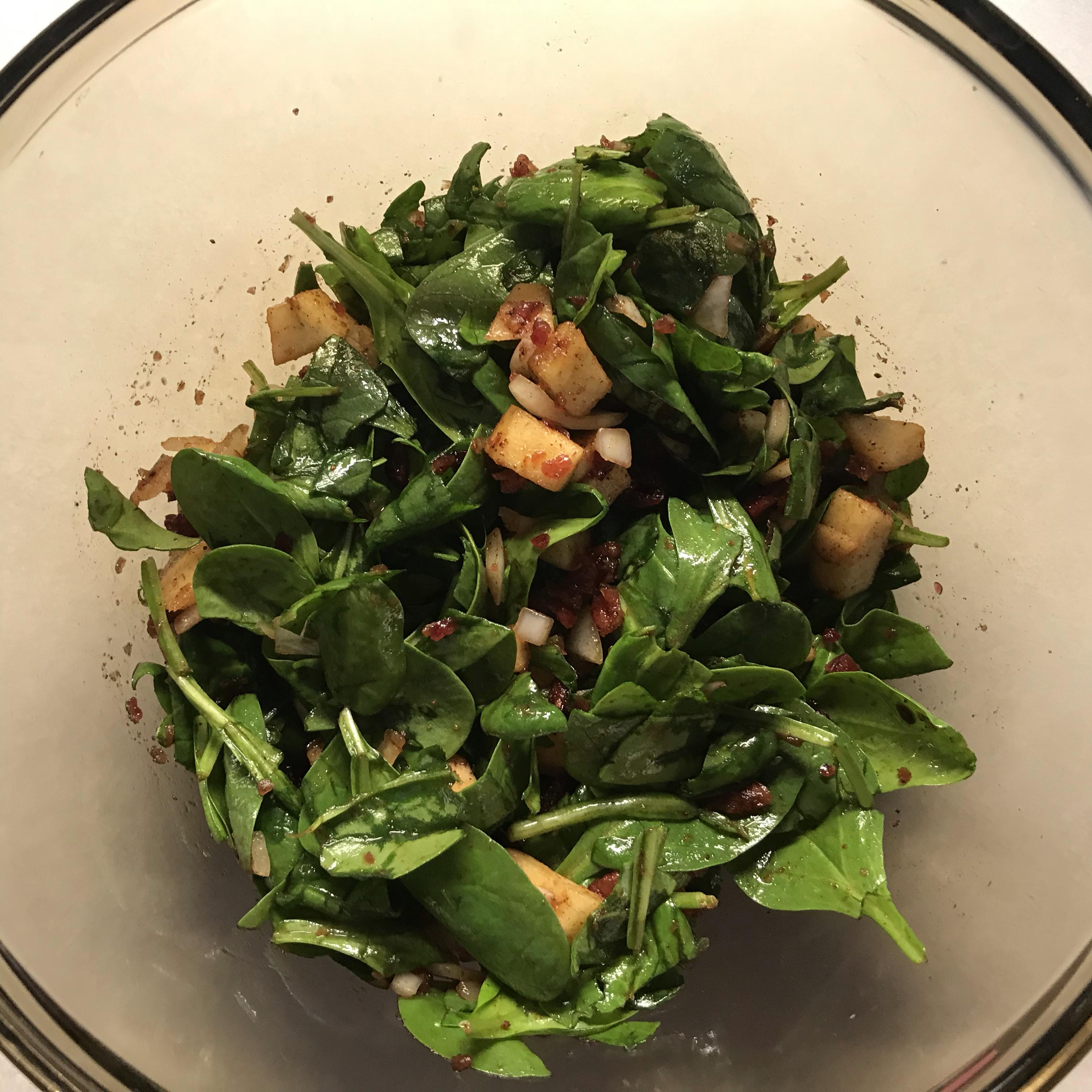 Thanksgiving Spinach Salad Vanessa