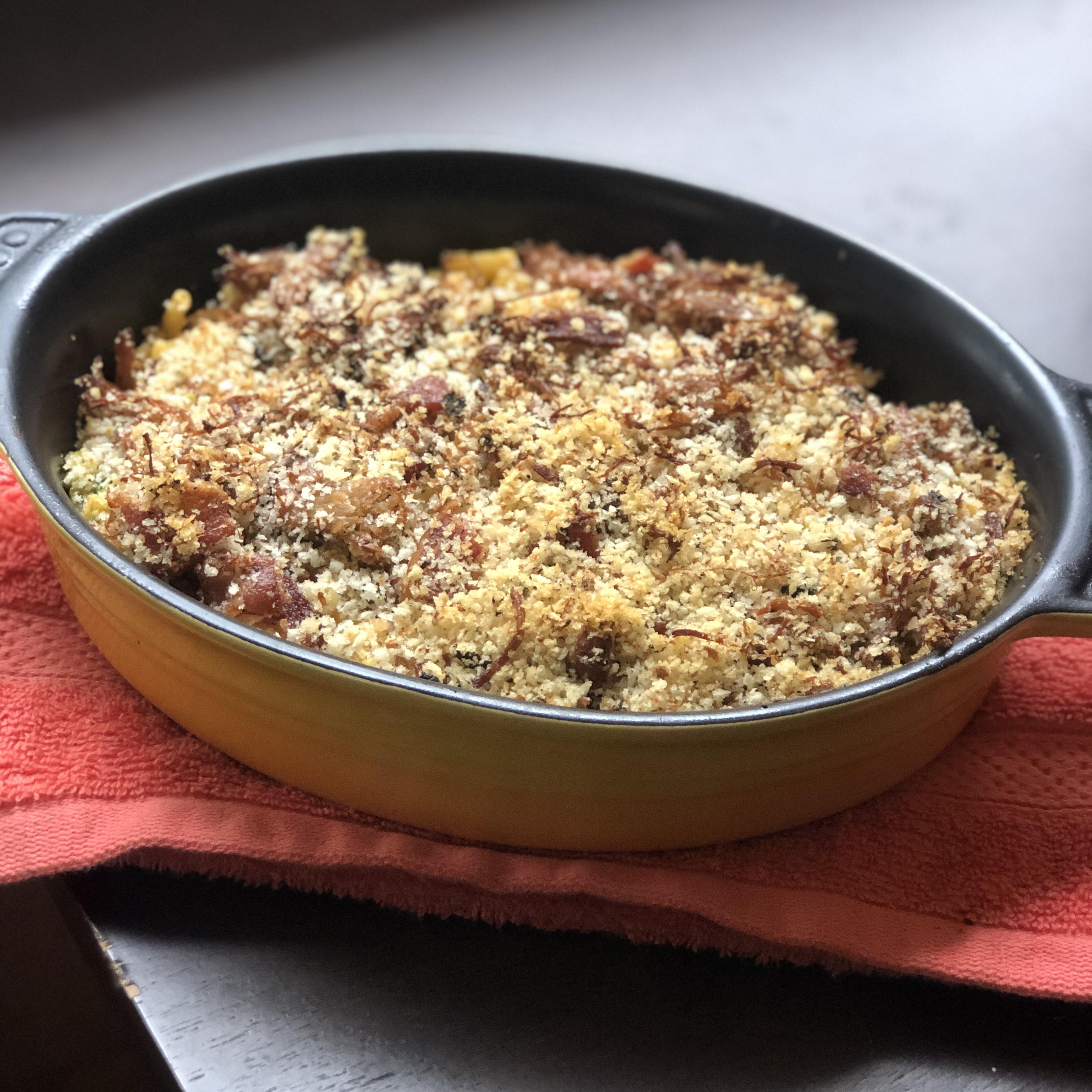 Baked Bacon Macaroni and Cheese Casserole Tish Lovisone