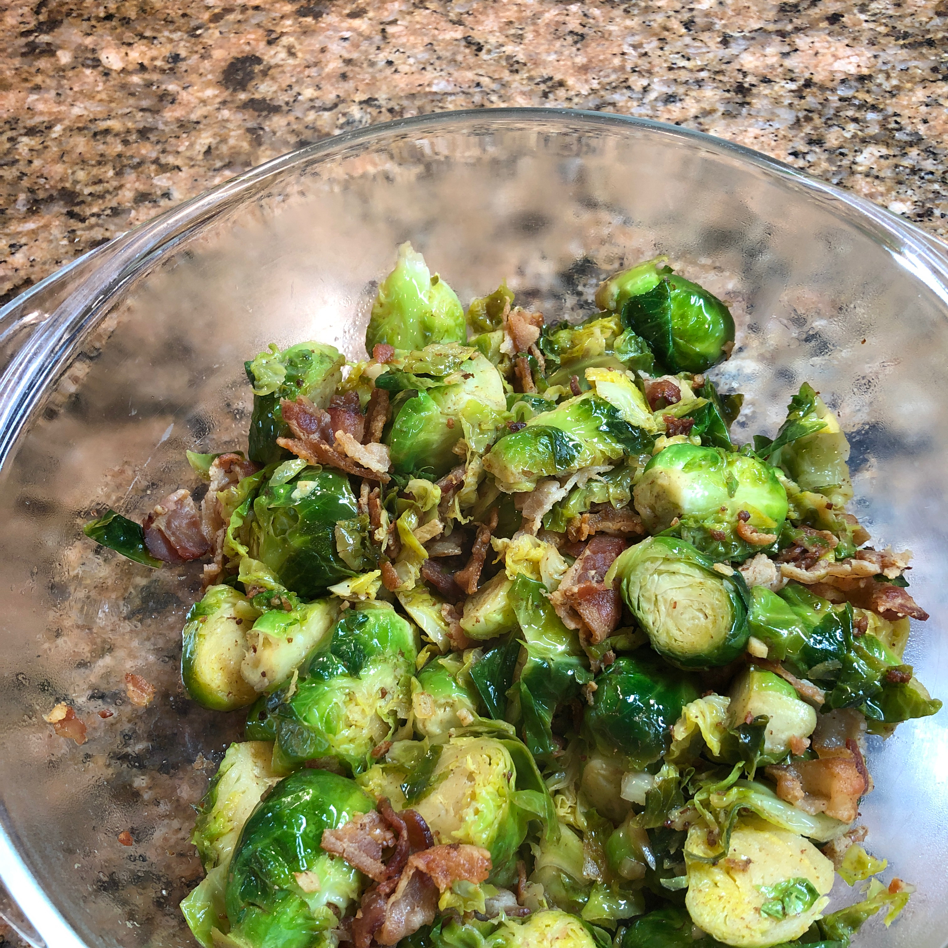 Bella's Brussels Sprouts with Bacon Meemzie
