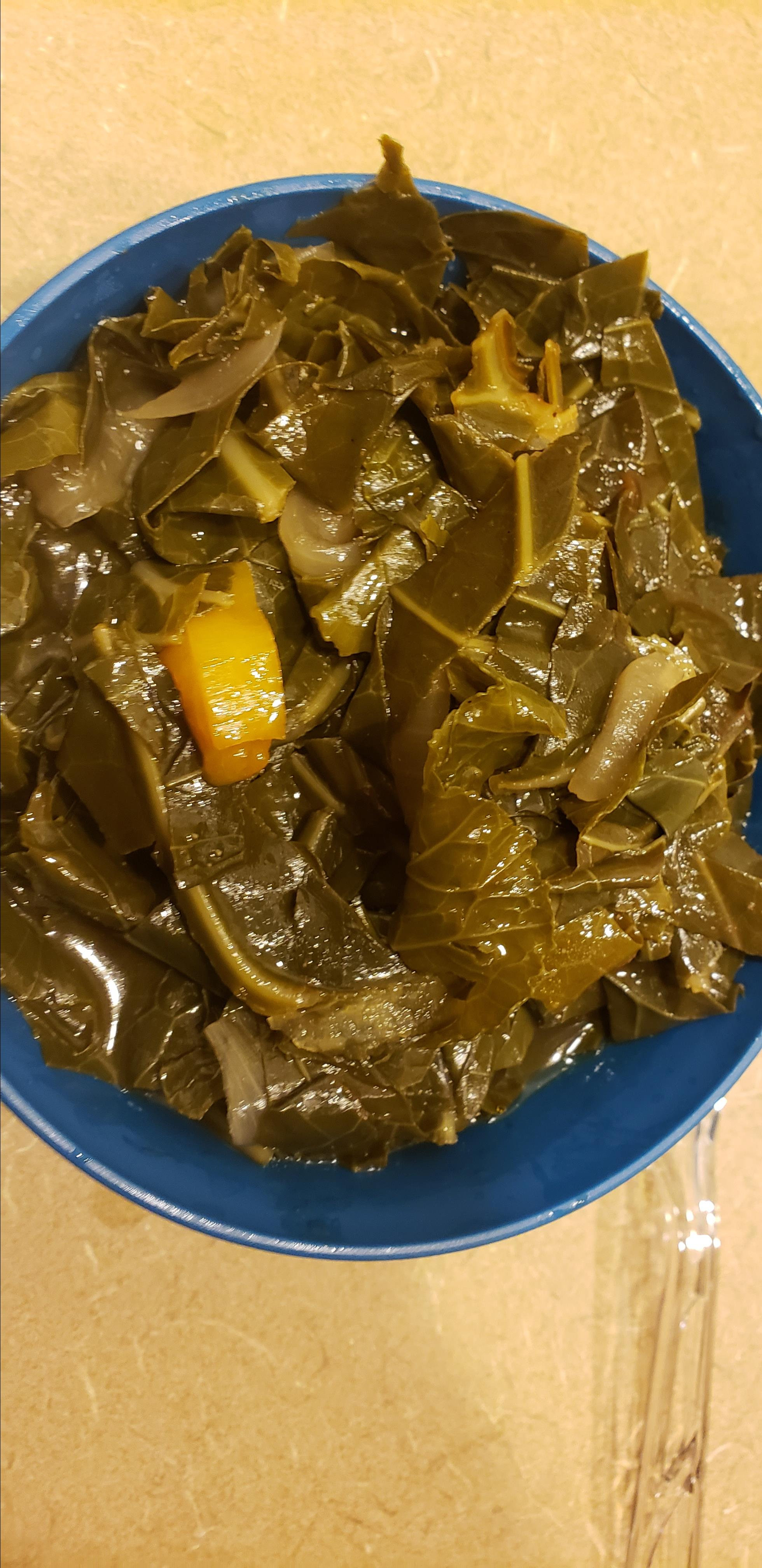 Eat Them Right Out of the Pot  Vegetarian Collard Greens