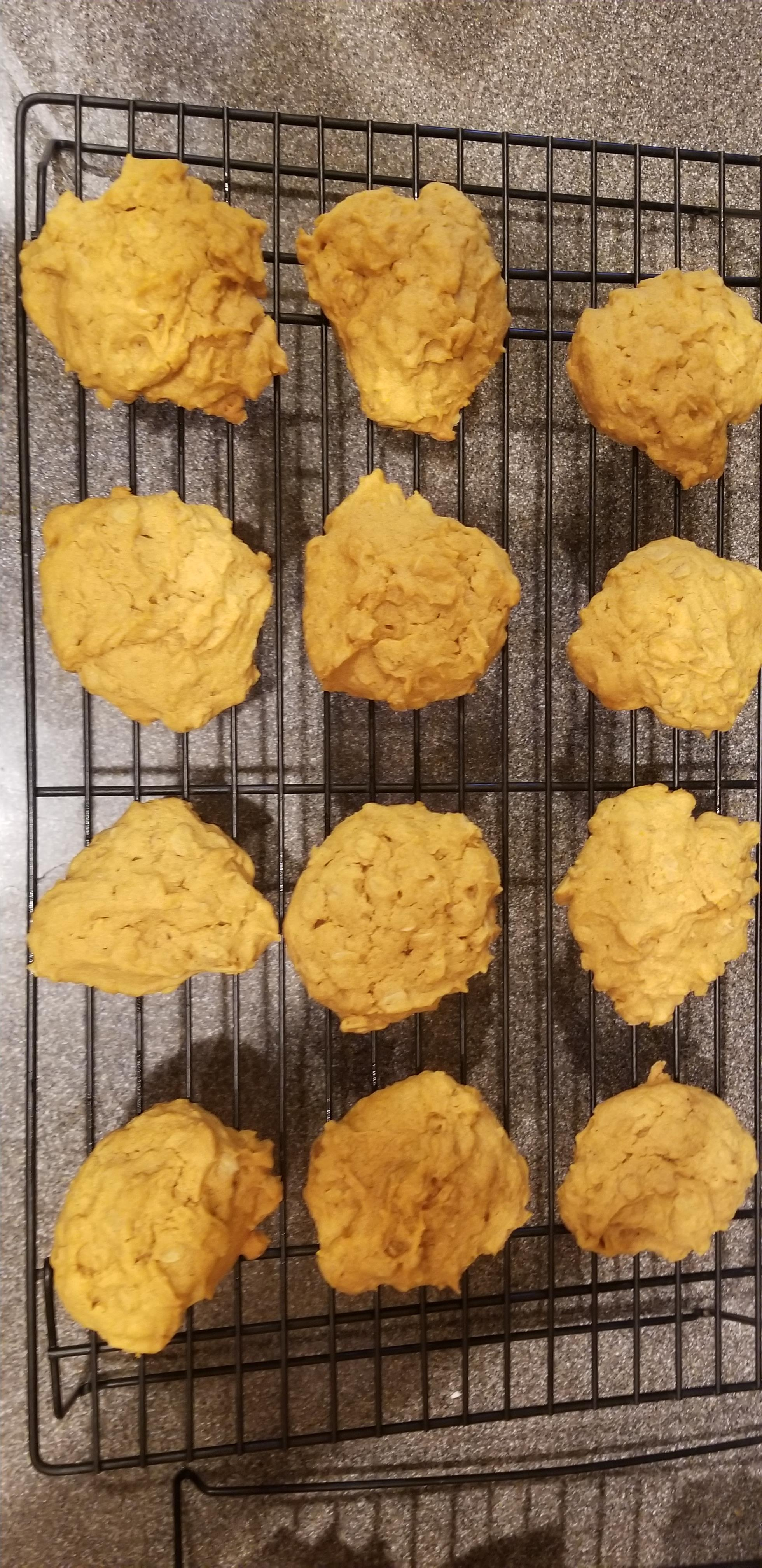 Soft and Chewy Pumpkin Cookies