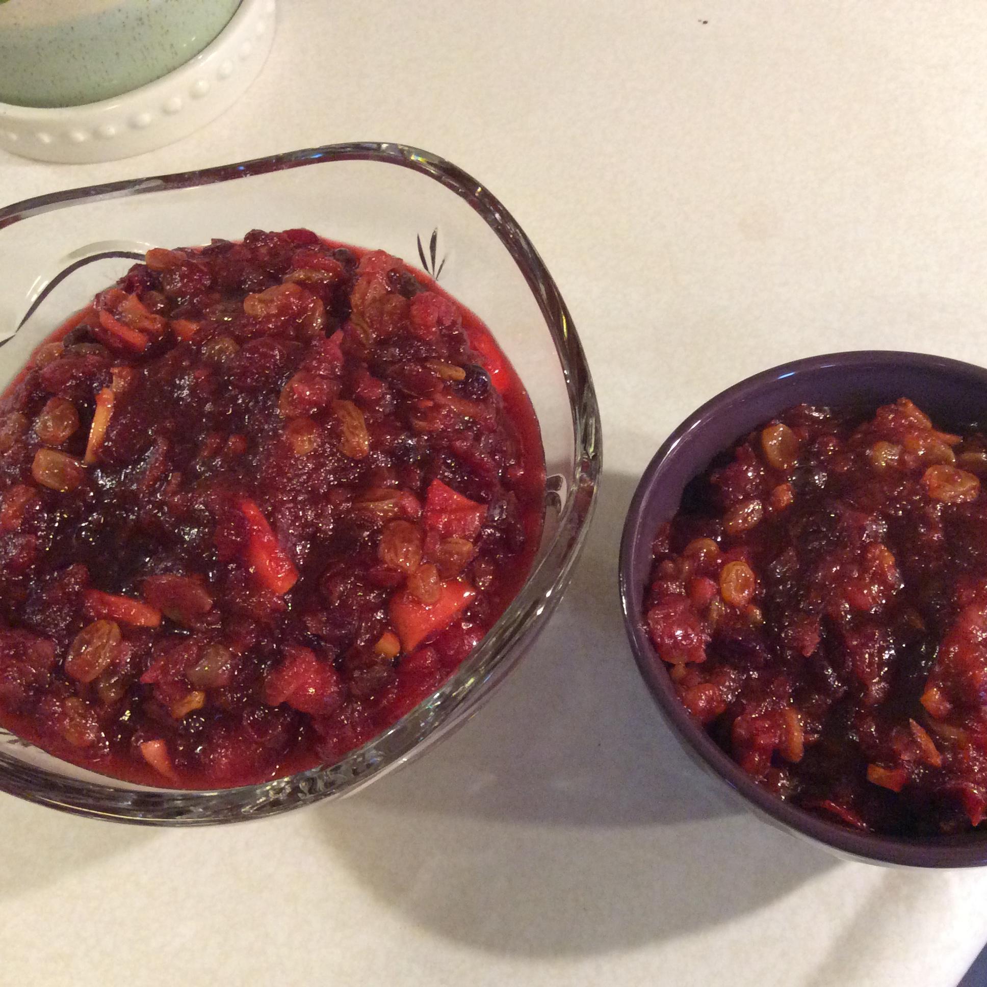 Cranberry, Apple, and Fresh Ginger Chutney JanL