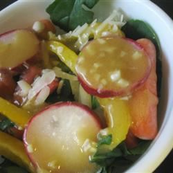 Garlic Mustard Vinaigrette mommyluvs2cook