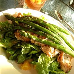 Grilled Mojo Chicken Salad With Asparagus and Oranges JessicaC