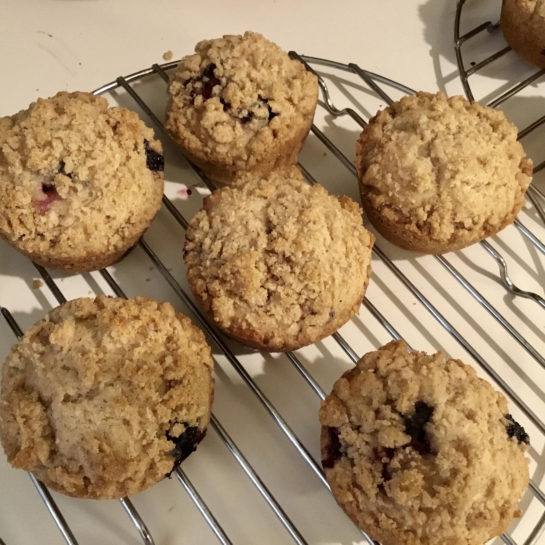 Sour Cream Blueberry Muffins Sherri Werner Duarte