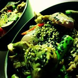 Killer Chicken with Mushroom, Asparagus, and Red Bell Pepper globalmitch