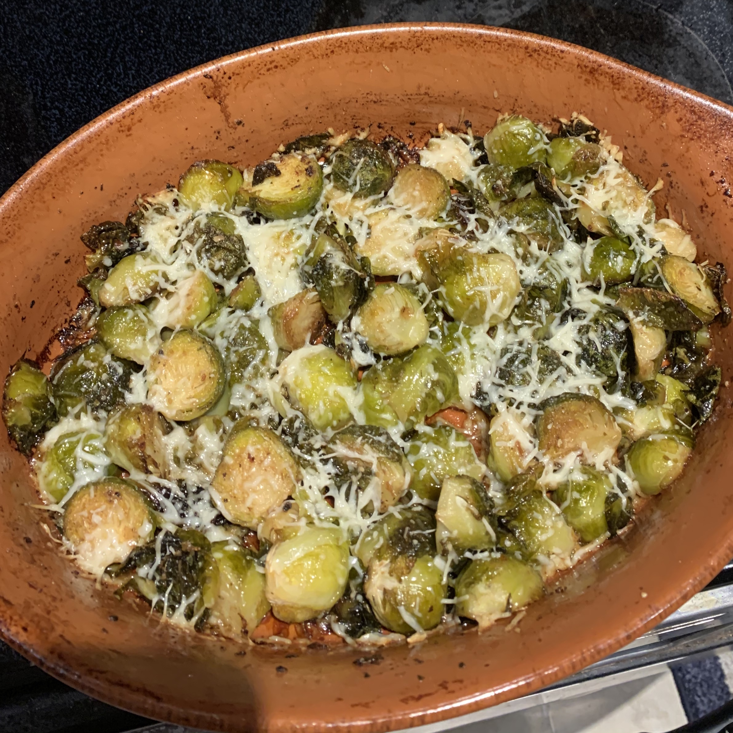 Roasted Brussels Sprouts with Parmesan julienmia