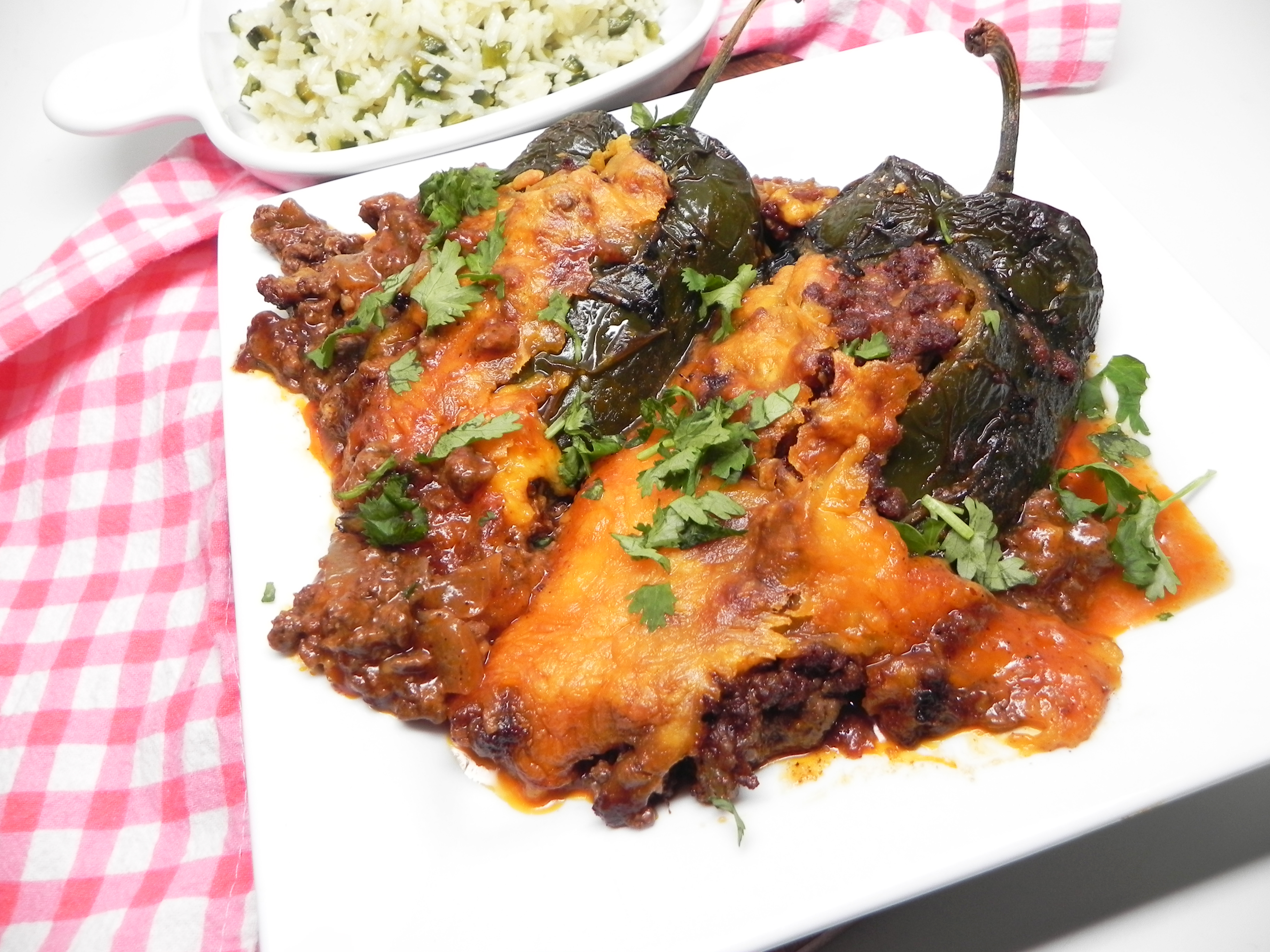 Stuffed Poblano Peppers