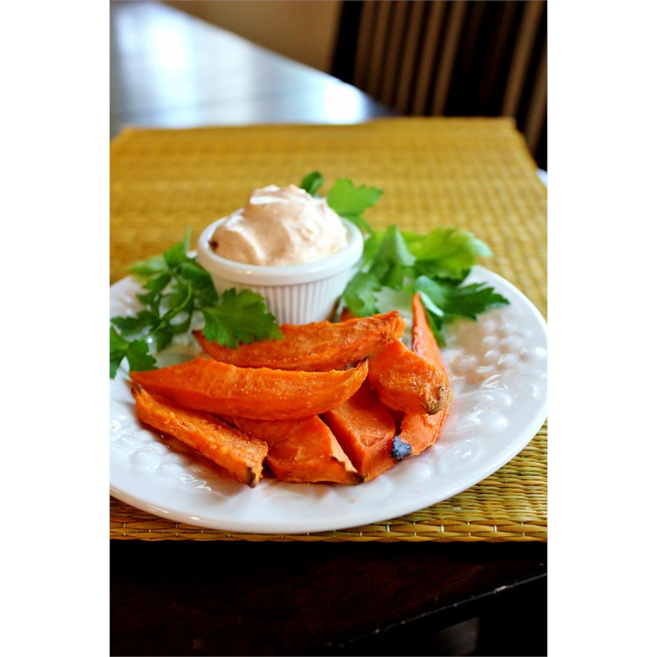 Baked Yam Fries with Dip Melissa Goff