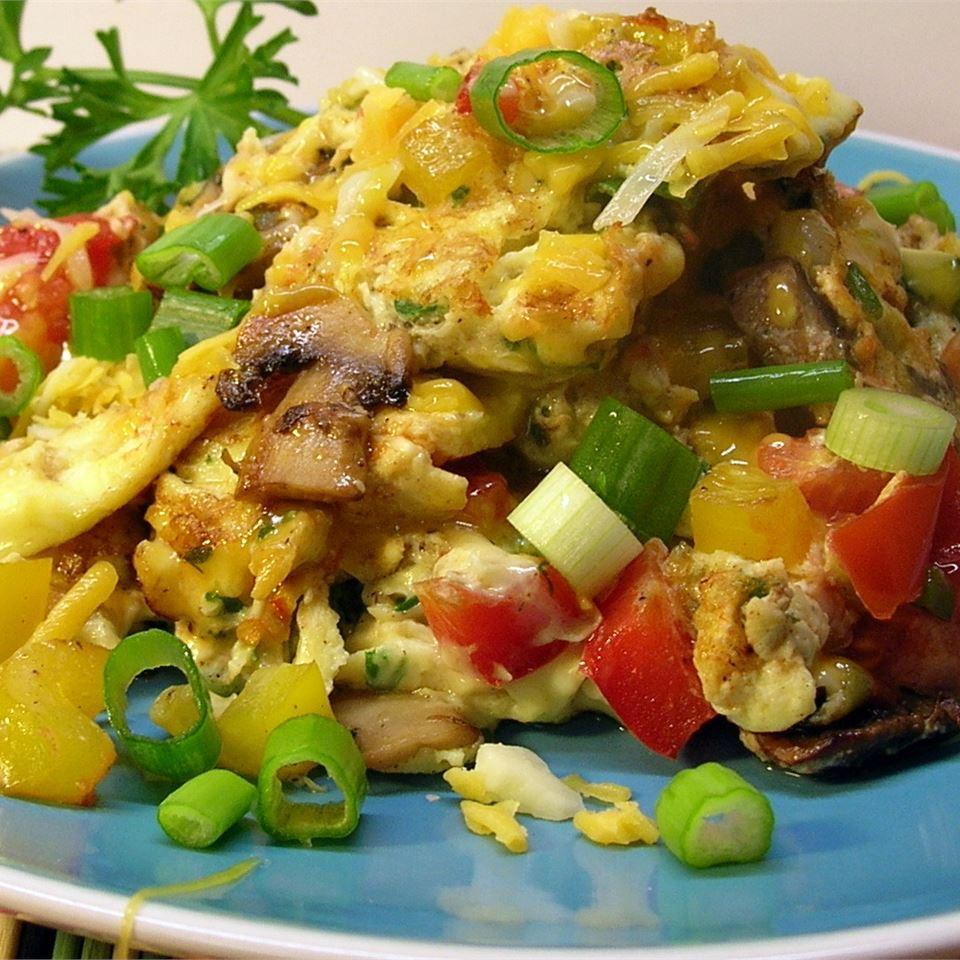 Extreme Veggie Scrambled Eggs