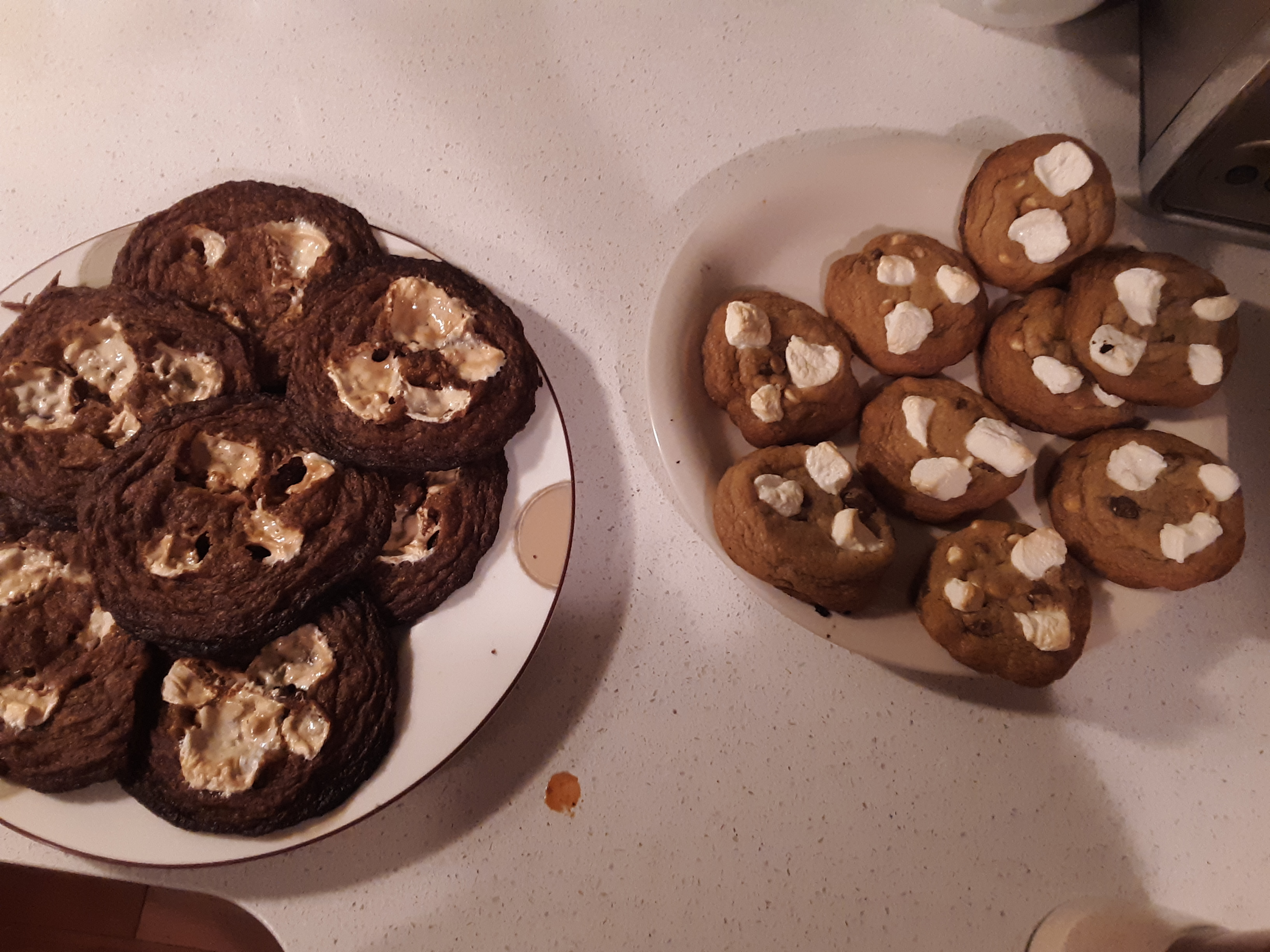 S'mores Cookies with Graham Crackers 12 before 13