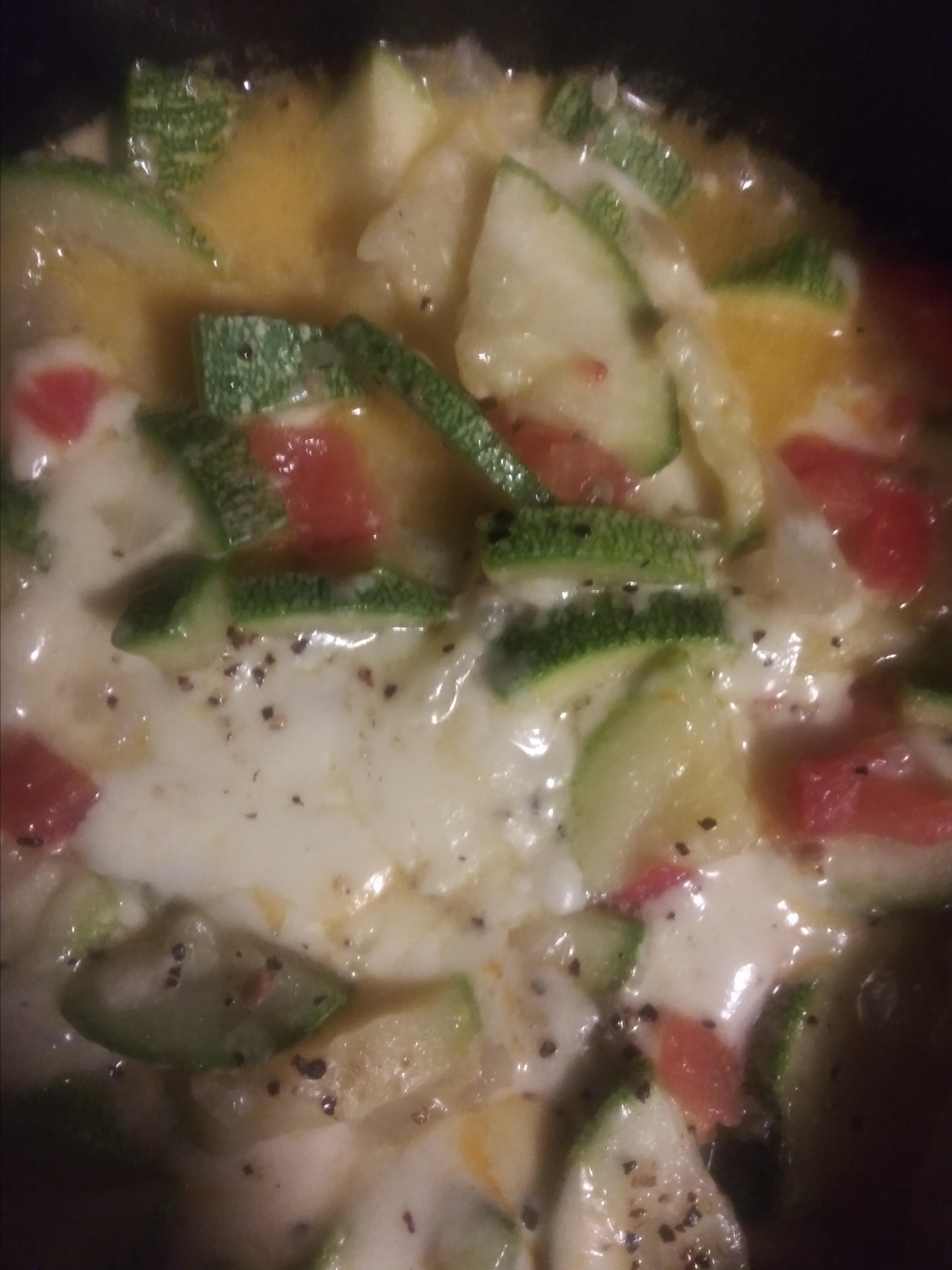 Calabacitas Con Queso - Zucchini with Cheese Paula R