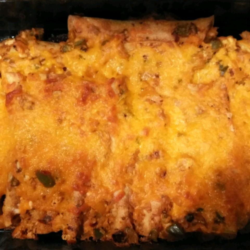 Turkey Cream Cheese Enchiladas