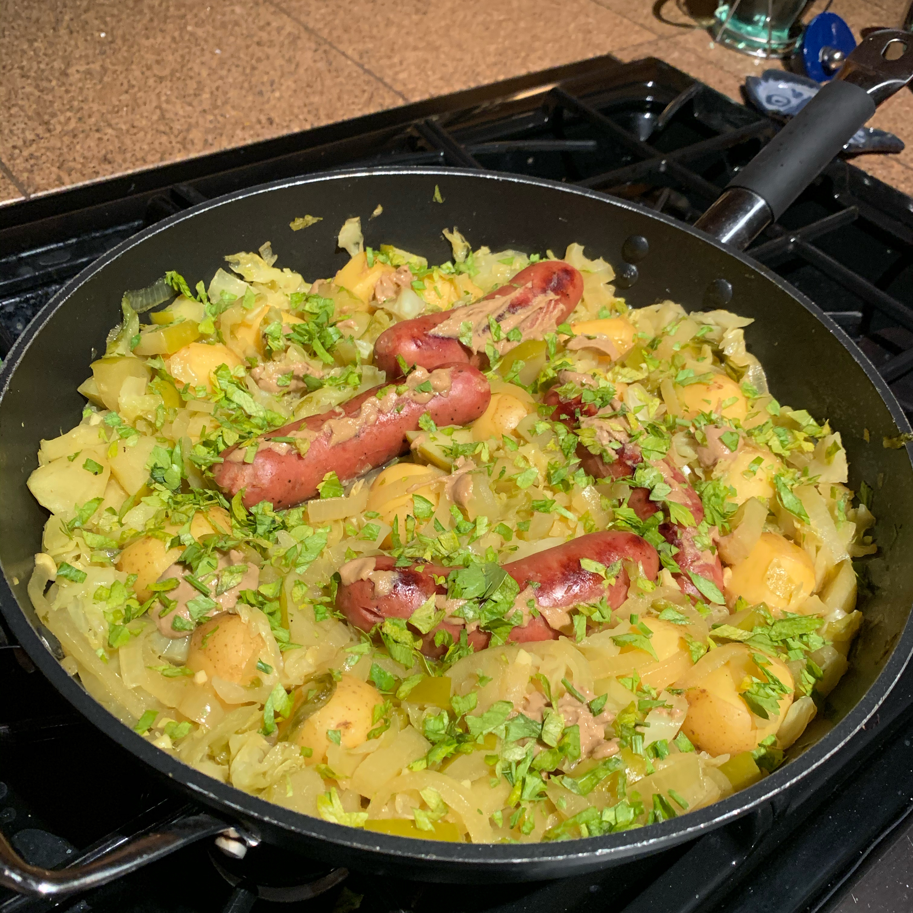 Chicken Apple Sausage with Cabbage herbgardener