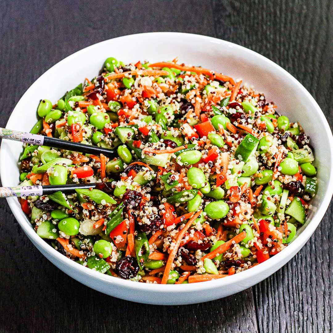 Easy Quinoa and Edamame Salad