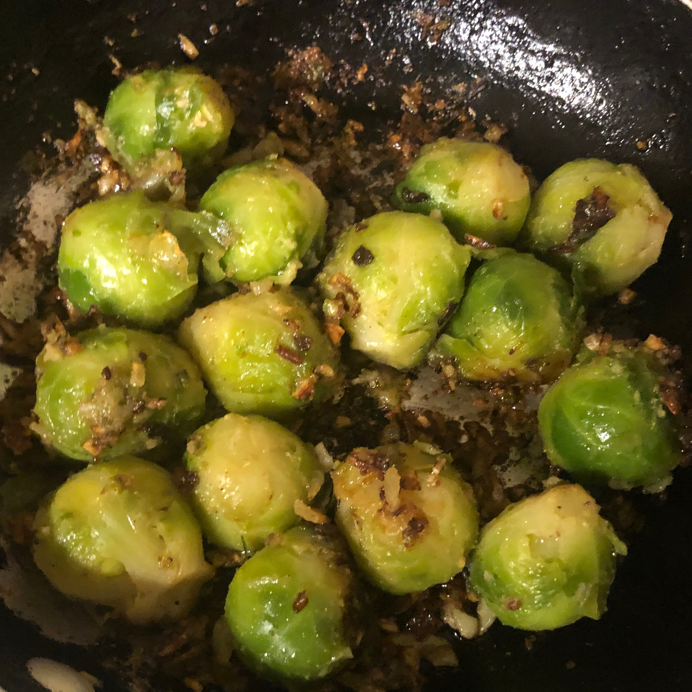 Pan Fried Brussels Sprouts olliesmomcooks