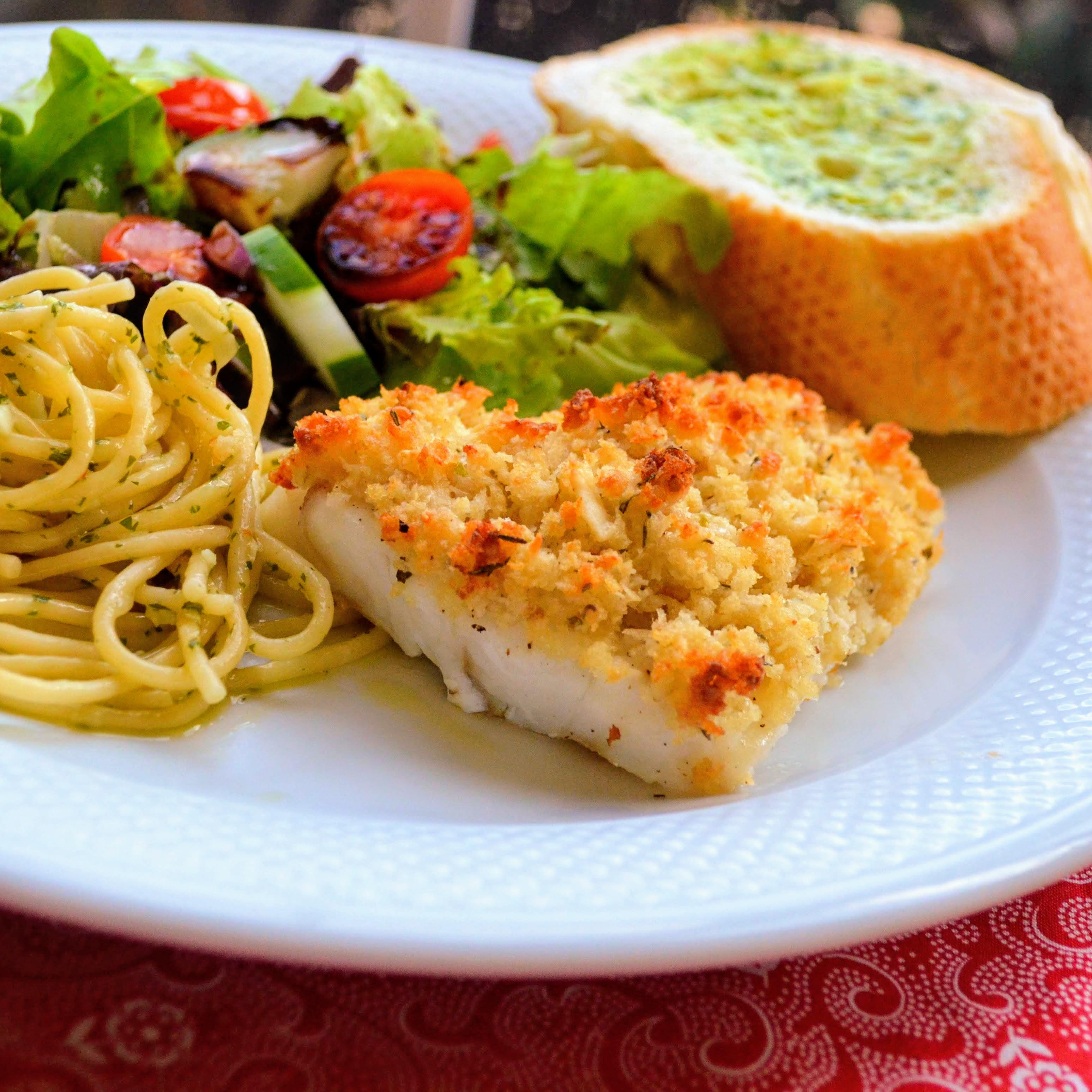 Crunchy Pecorino Baked Cod