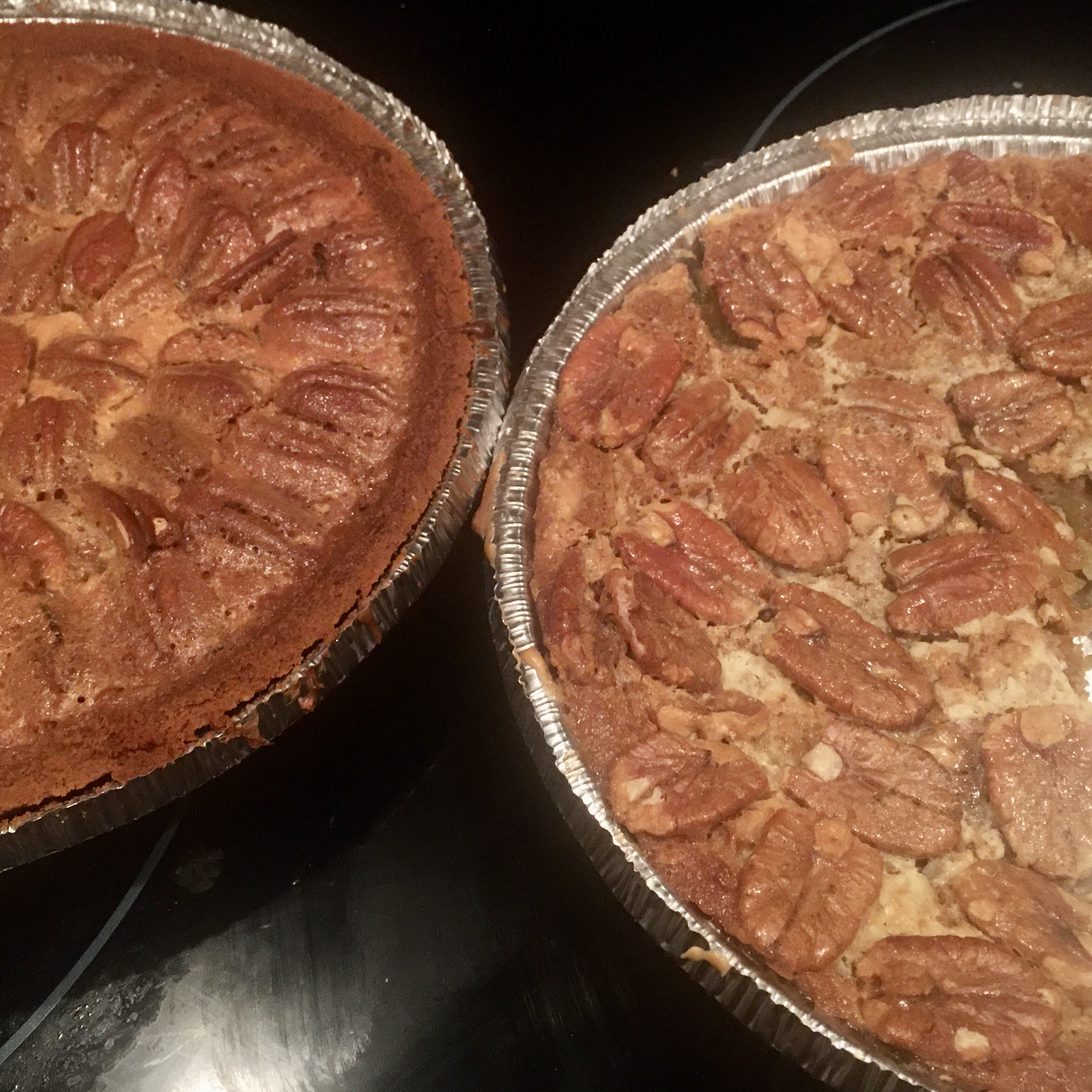 2-Layer Rum Pecan Pie with Cheesecake Mother Hood
