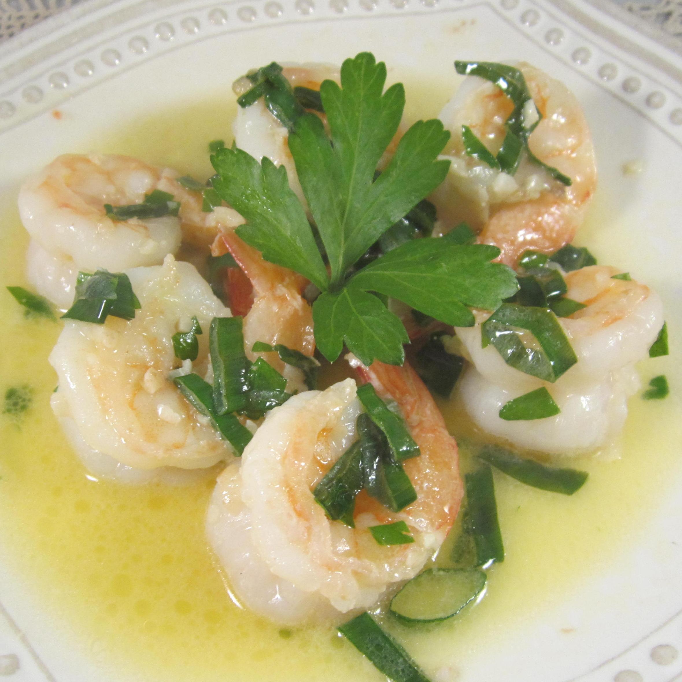 Sauteed Shrimp with Garlic, Lemon, and White Wine