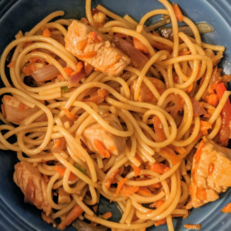 Thai Chicken Spaghetti