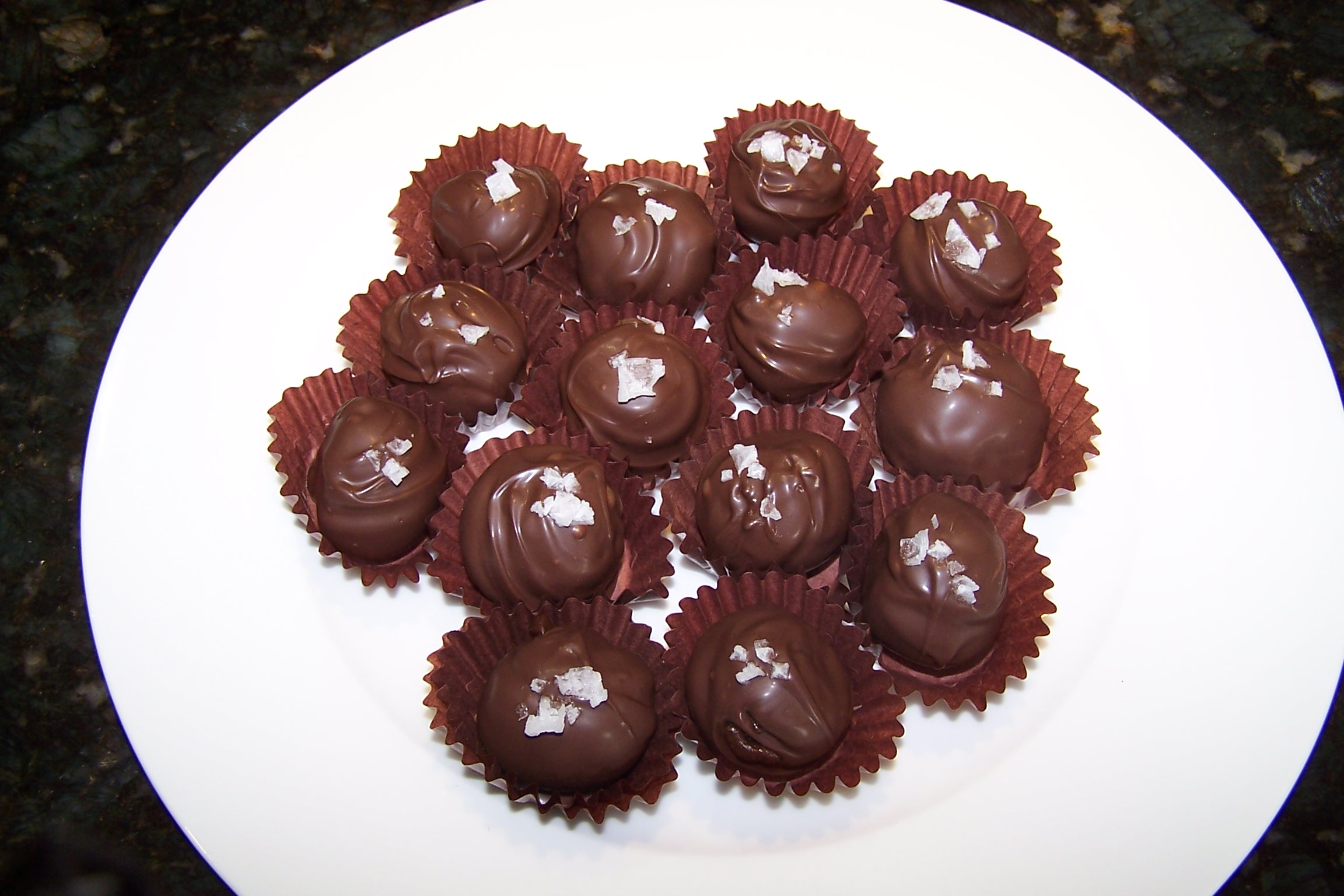 Salted Caramel and Toasted Pecan Truffles