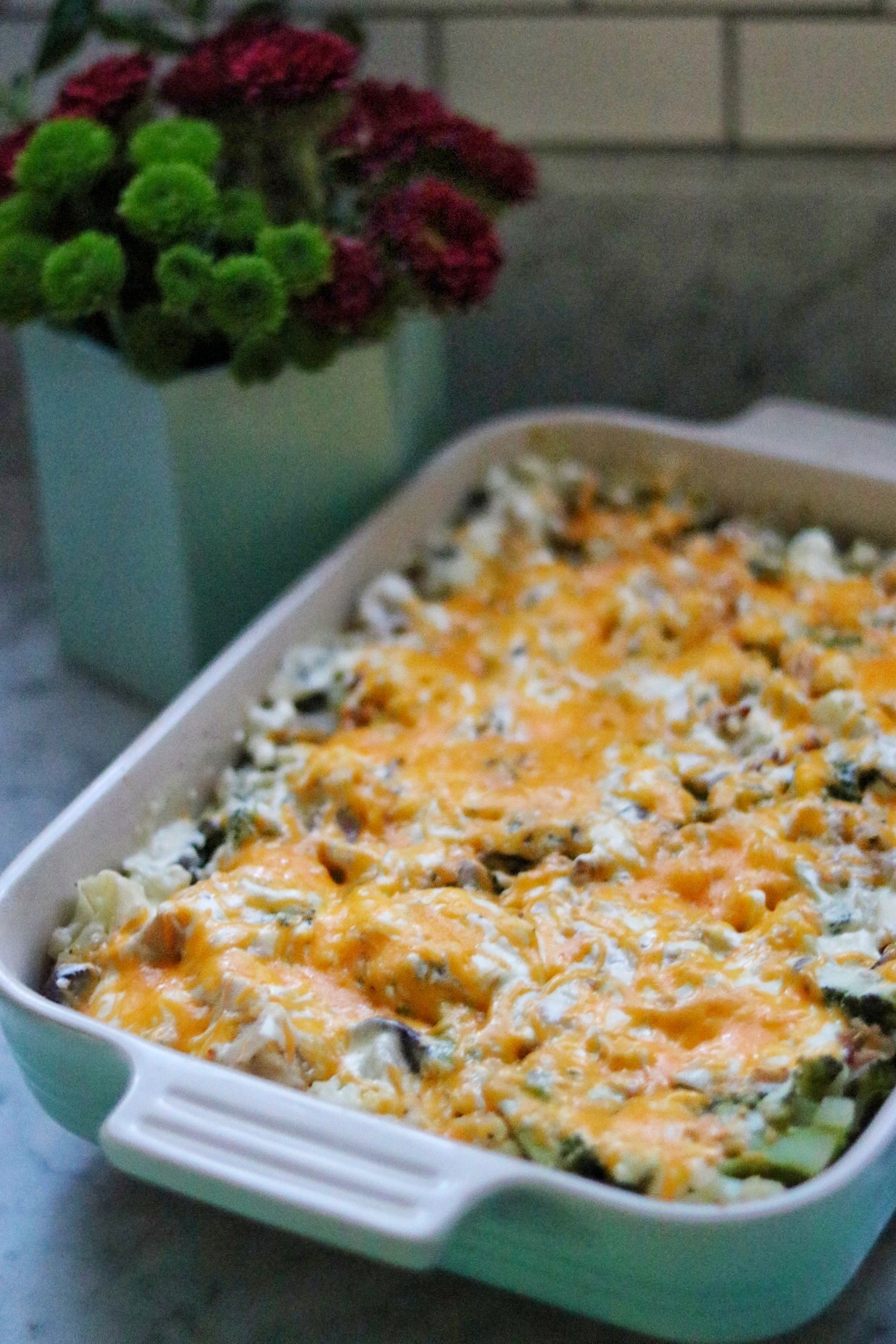Keto Creamy Chicken and Vegetable Bake