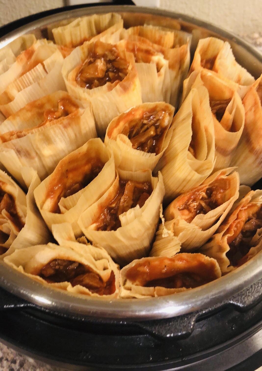 Tamales de Puerco (Red Pork Tamales) chely