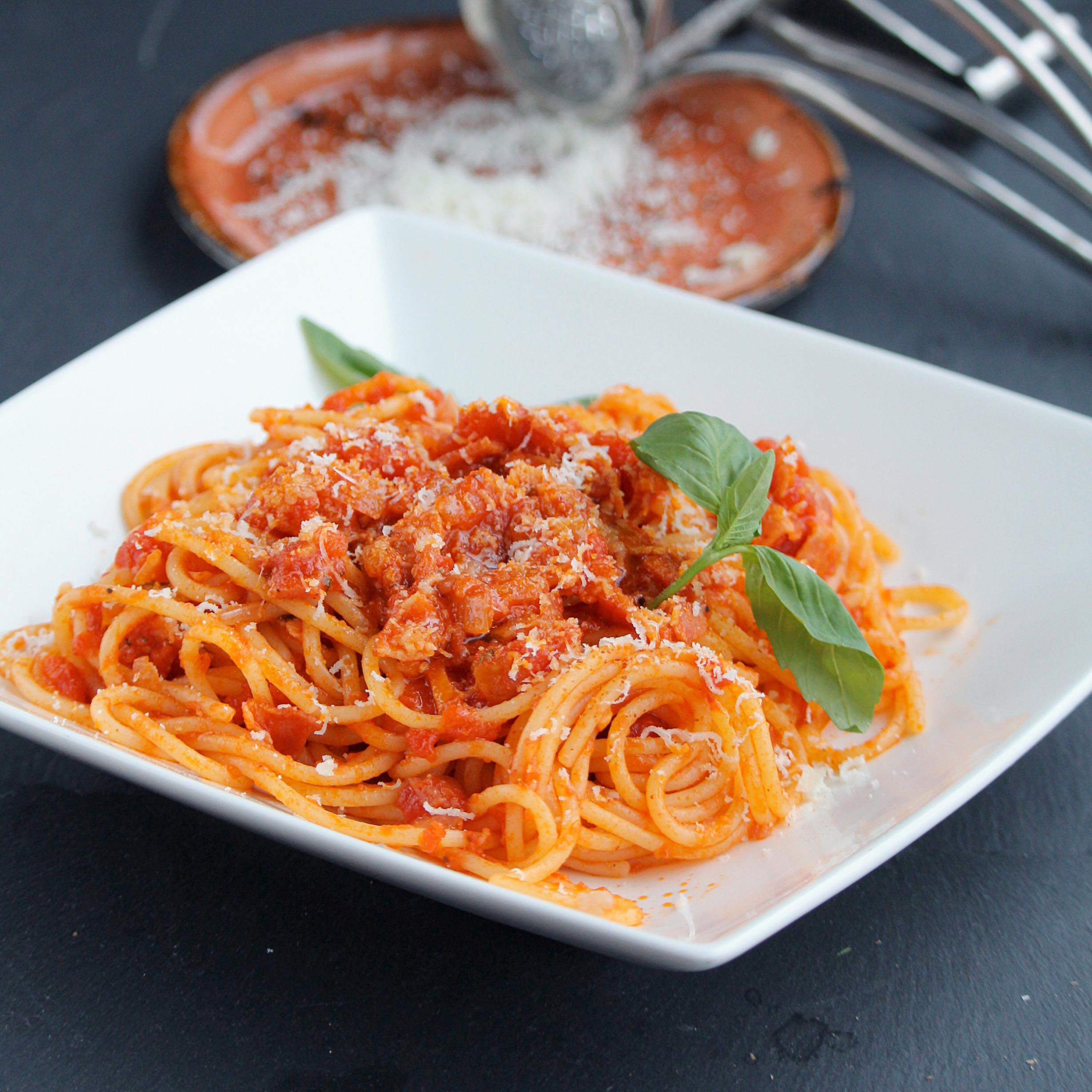 Enzo's Spaghetti all'Amatriciana Buckwheat Queen