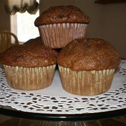 Mimi's Giant Whole-Wheat Banana-Strawberry Muffins SweetToothTiff
