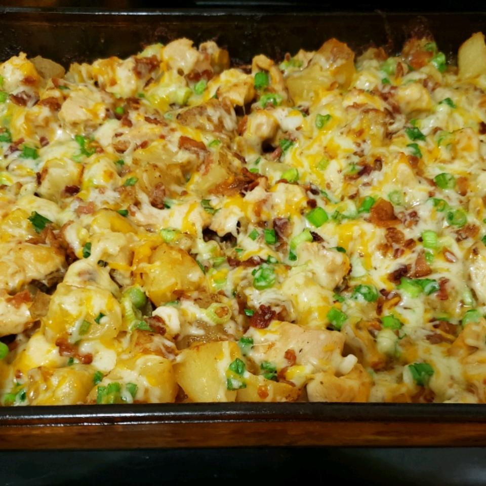 Buffalo Chicken and Potato Casserole