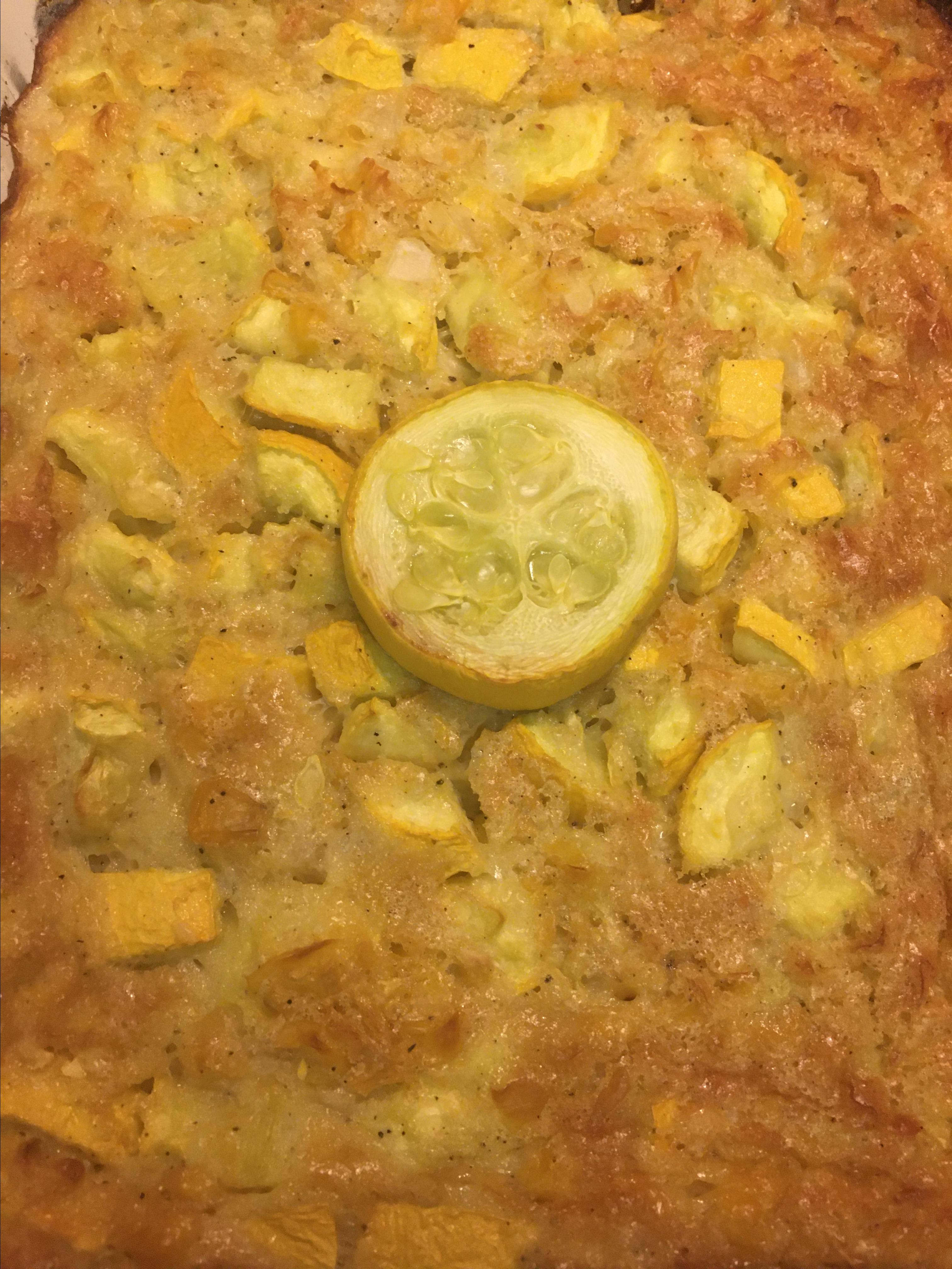 Yellow Squash and Corn Casserole Alicia Cruz Green