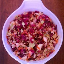 Cranberry Walnut Slaw Gourmet Veggie Freak