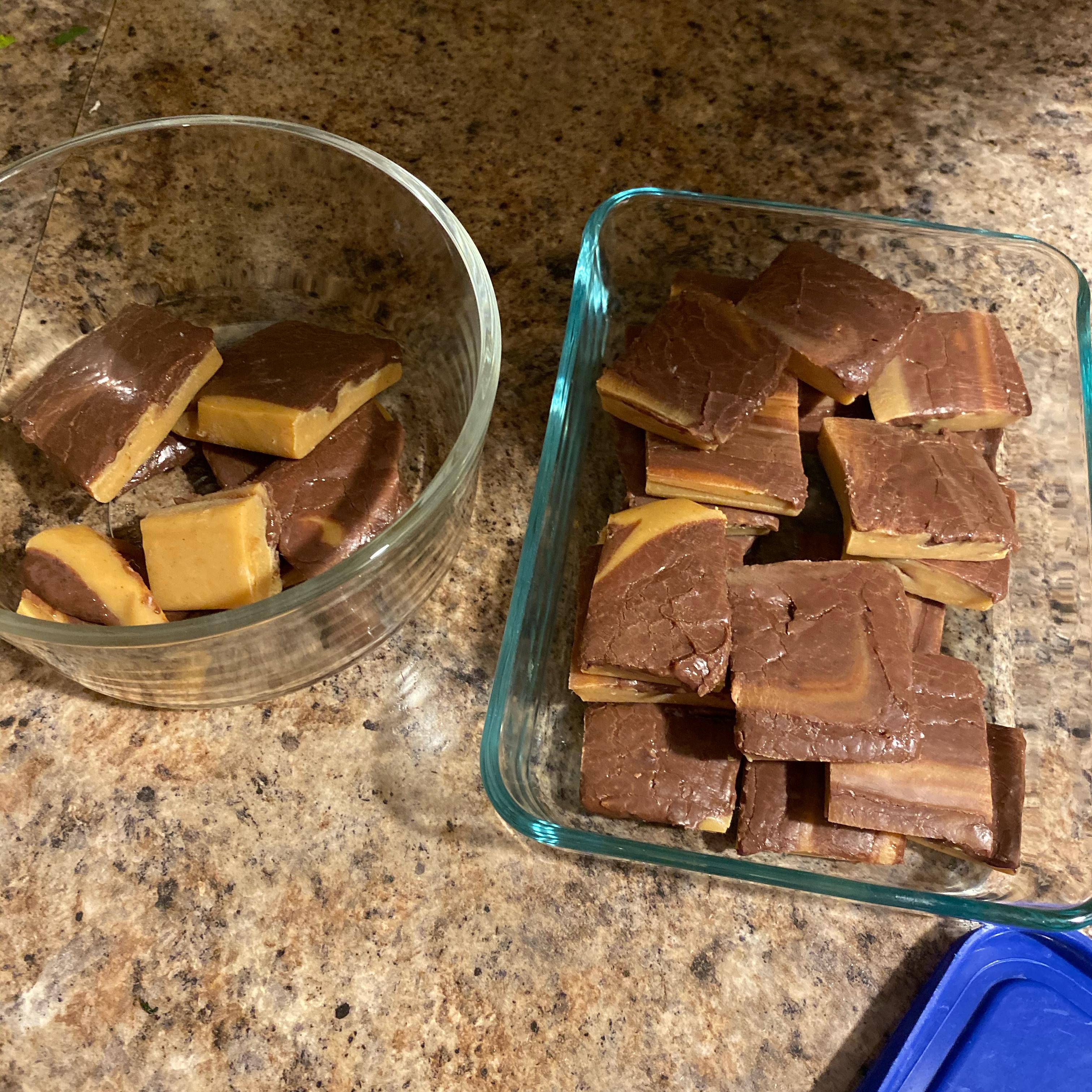 Chocolate Peanut Butter Swirl Fudge Tami Hasson