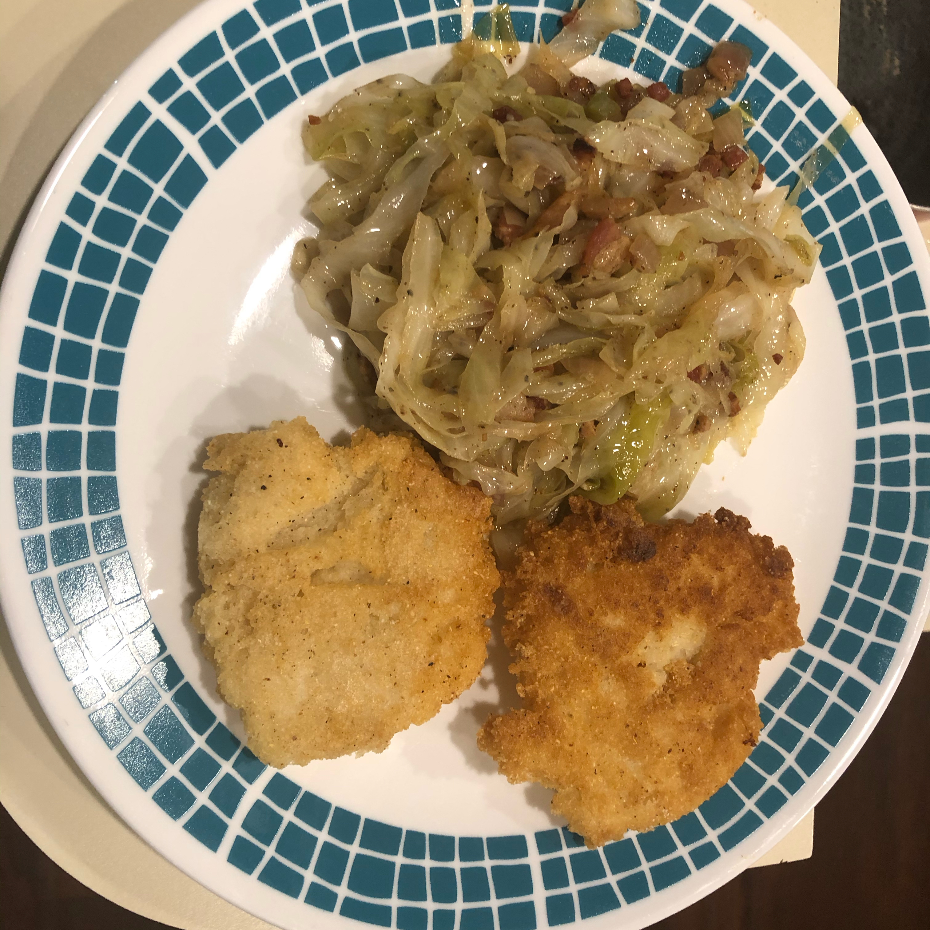 Fried Cabbage with Bacon, Onion, and Garlic Debbiejo