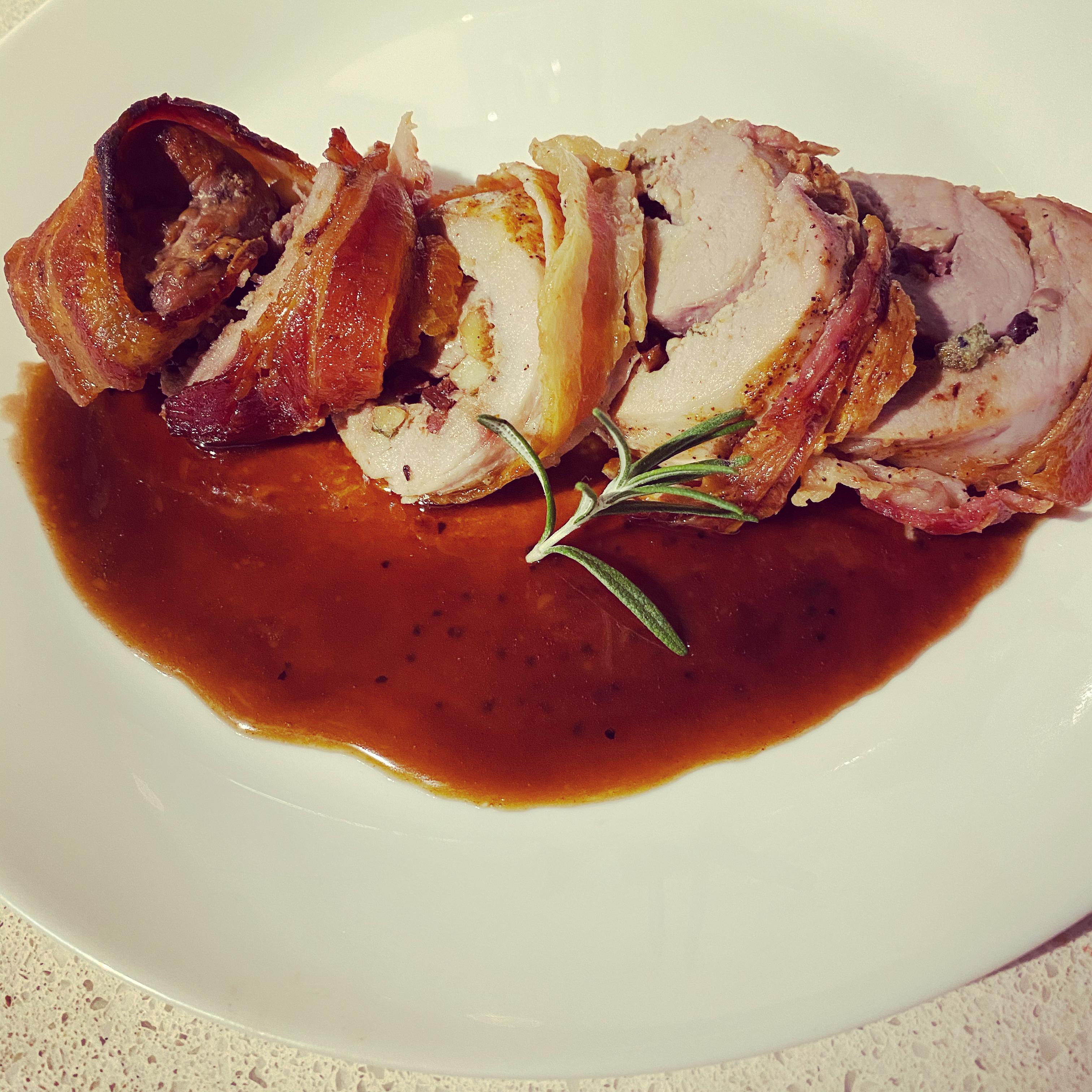 Bacon-Wrapped Cranberry Walnut Pork Emily Yan