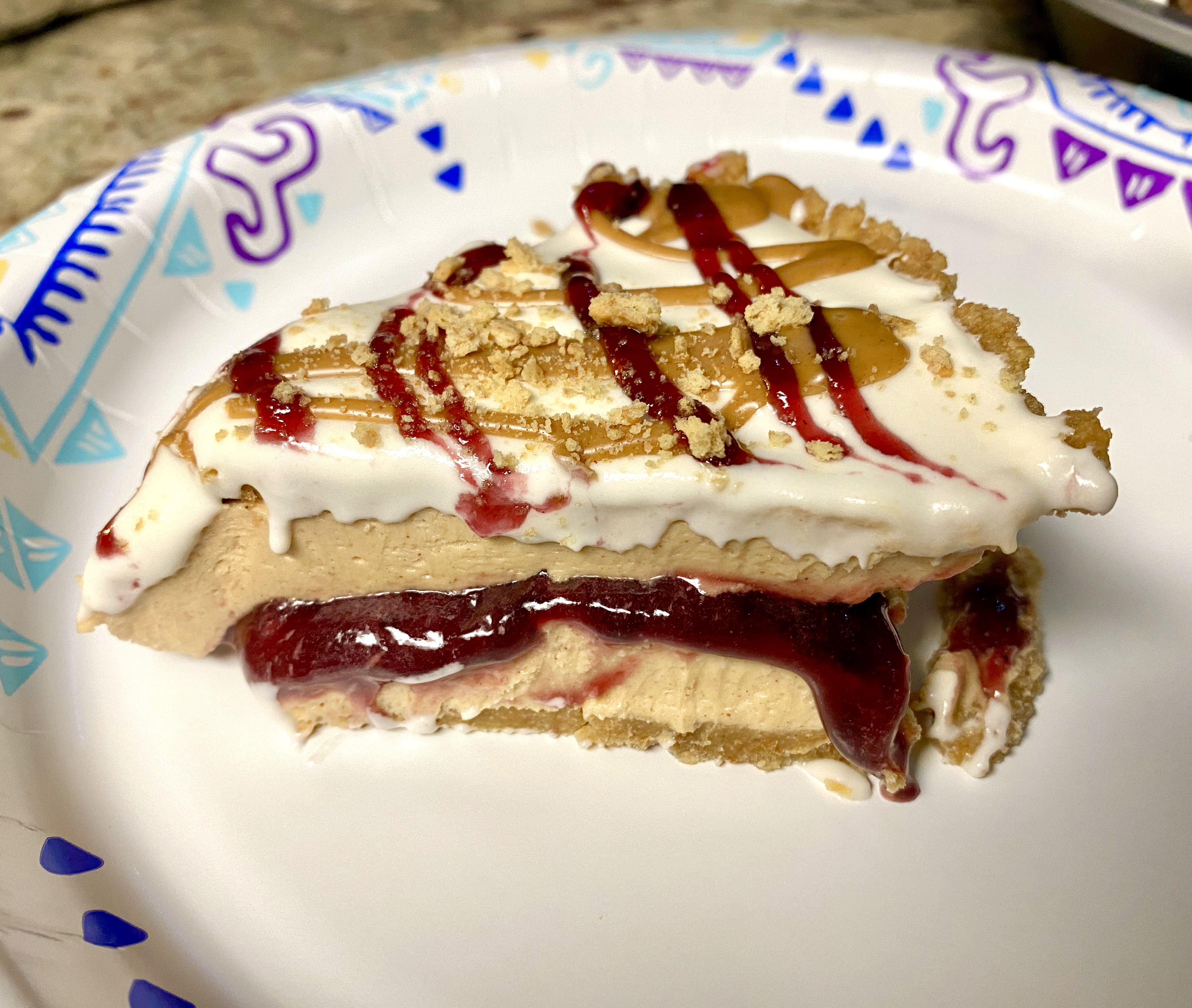 No-Bake Peanut Butter and Jelly Pie TTallant