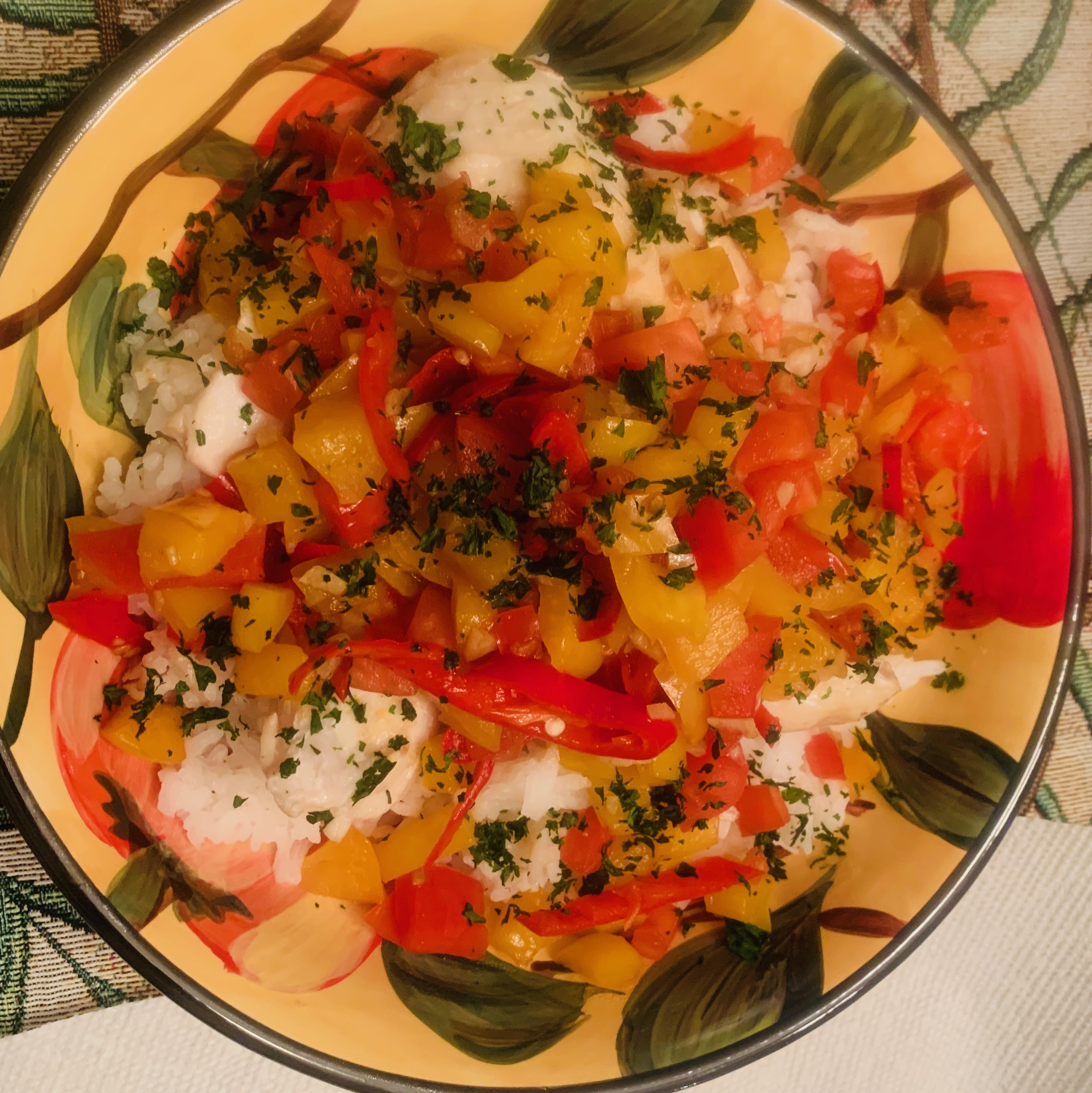 Baked Snapper with Chilies, Ginger and Basil KLKNOW