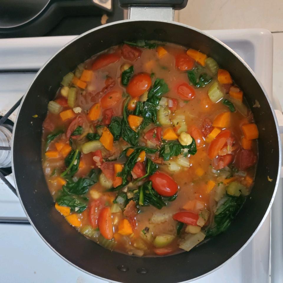 Vegan Italian Garbanzo Bean Soup Sasha Kutepov