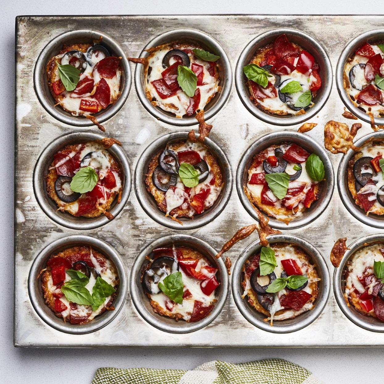 Mini Cauliflower-Crust Pizzas Karen Rankin