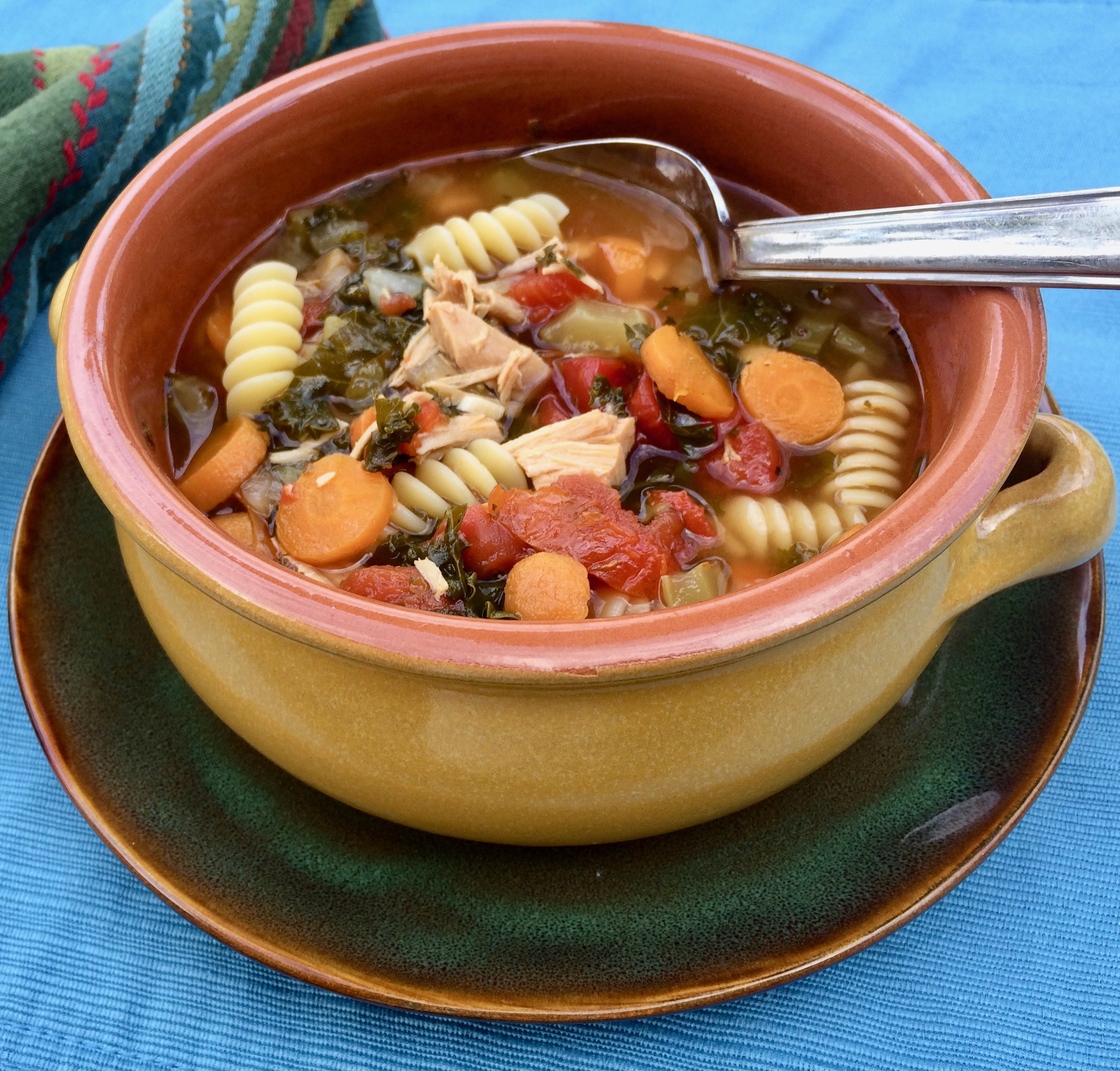 Instant Pot® Turkey Soup with Pasta and Vegetables