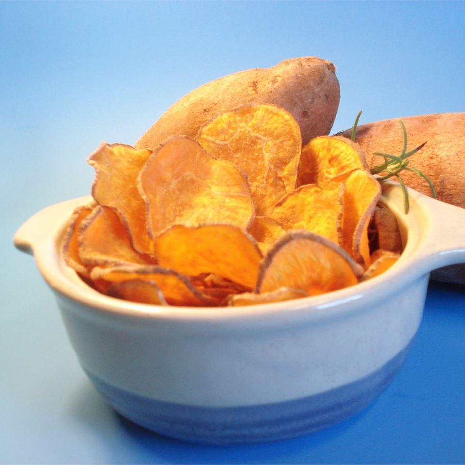 Cinnamon Sweet Potato Chips JimmyandNancy Long